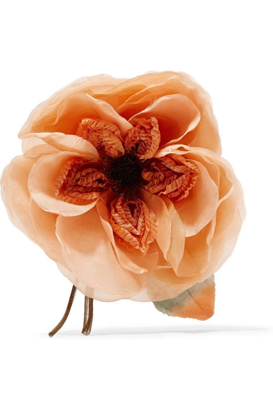 Gucci Floral Silk Brooch - Orange NVNXfqB