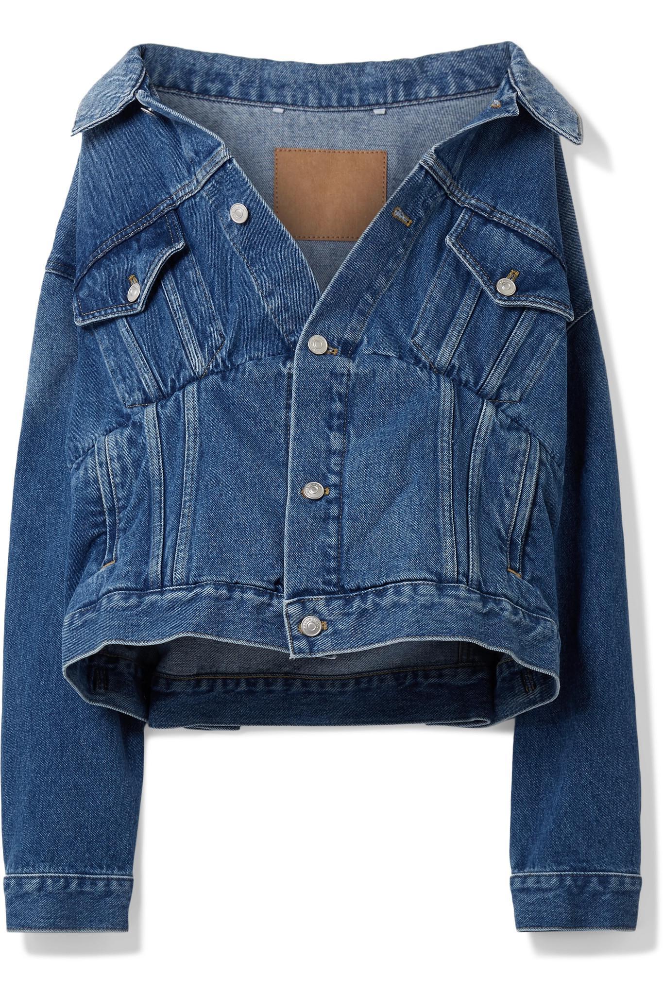 fcfa2660d35b57 Lyst - Balenciaga Oversized Denim Jacket in Blue