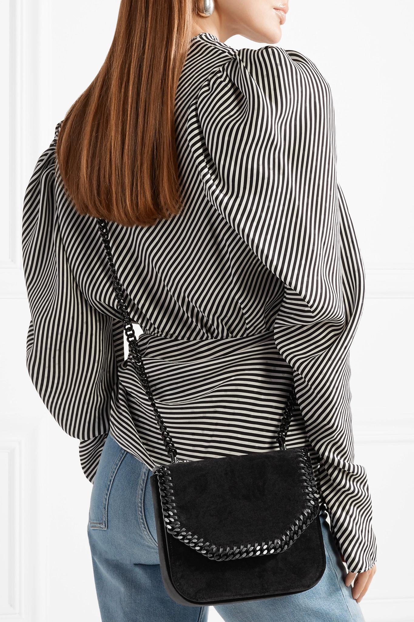 ef0e70fe40 Lyst - Stella McCartney The Falabella Box Medium Velvet Shoulder Bag ...