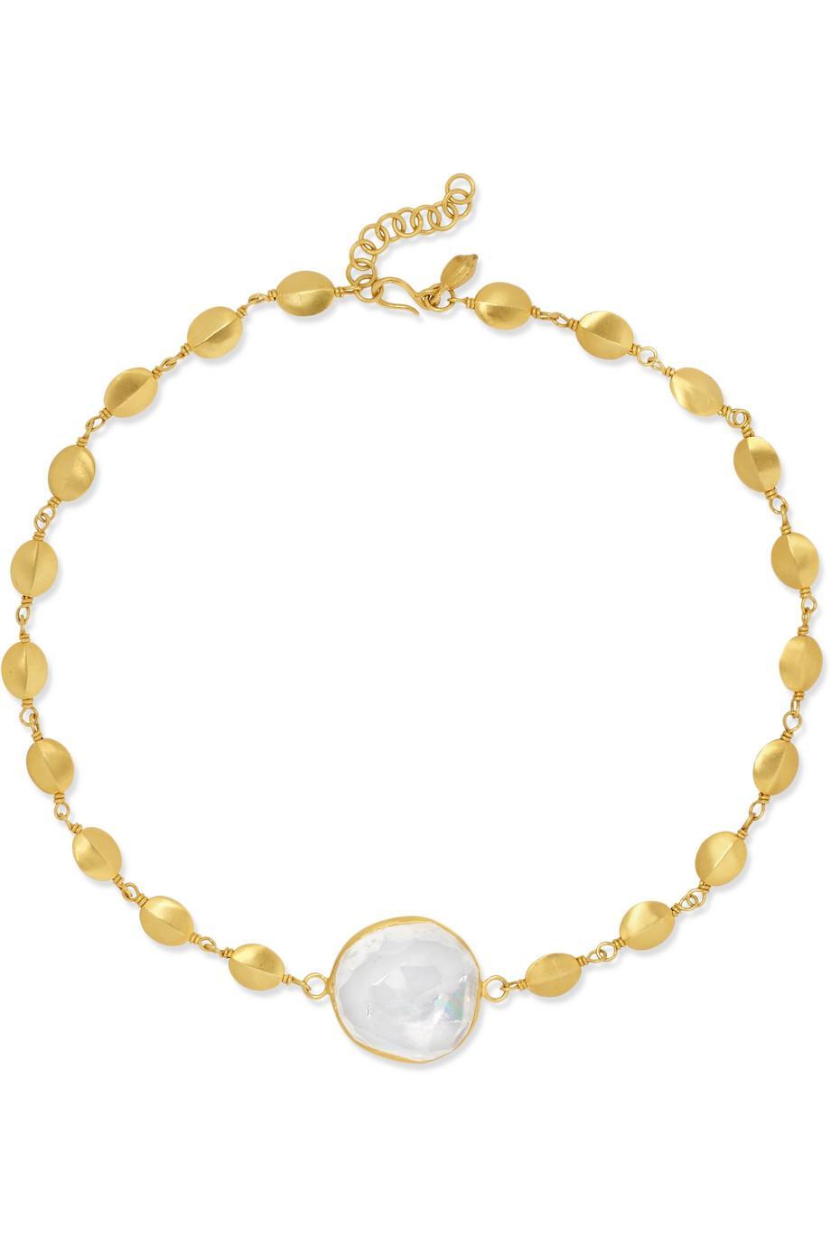 Pippa Small 18-karat Gold Crystal Choker qWOBUg5