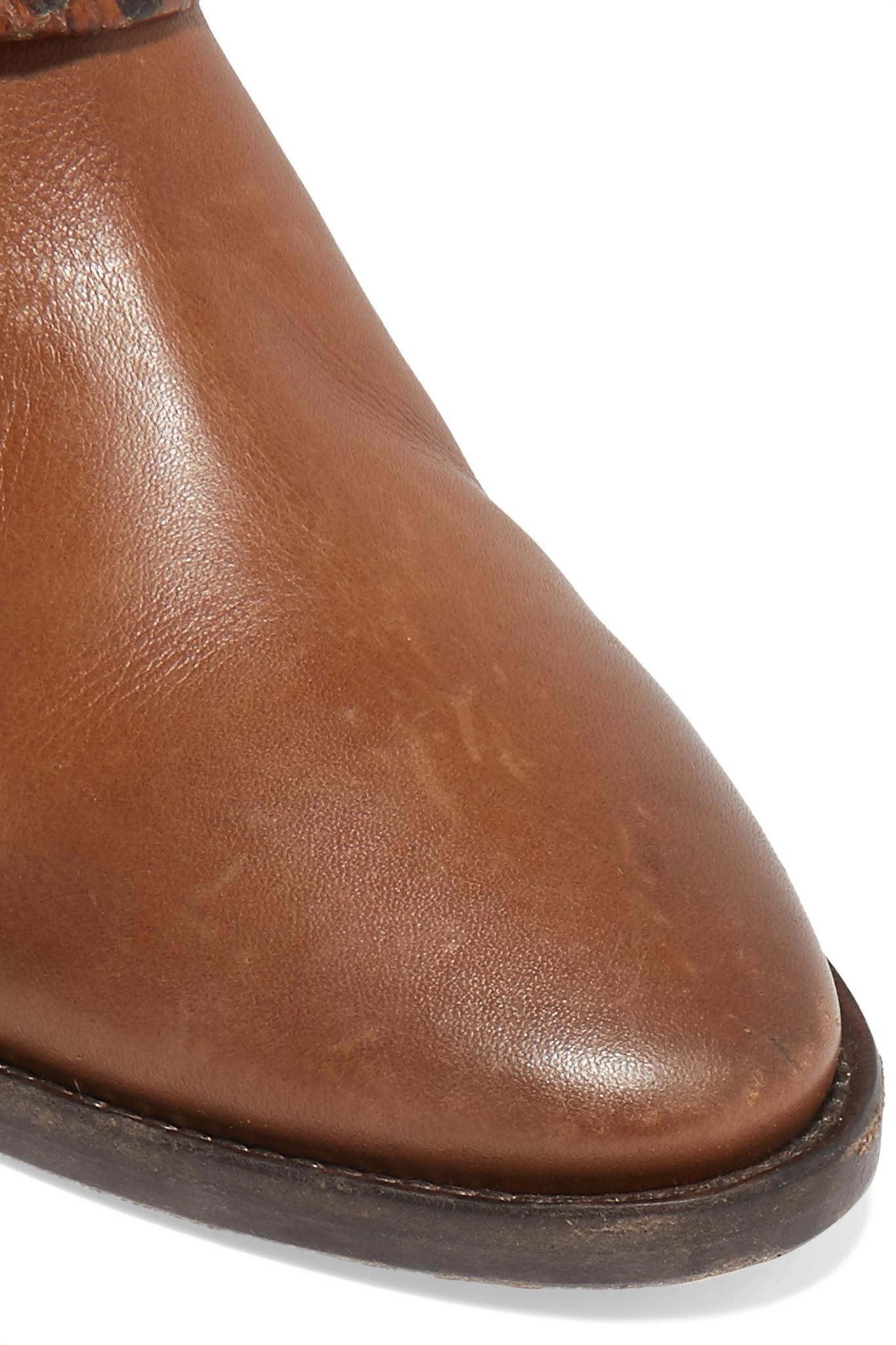 eb6d3ea622 Lyst - Golden Goose Deluxe Brand Bretagne Distressed Leather And ...