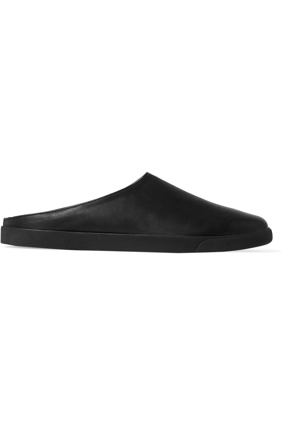 bfb8ac89b07 Lyst - The Row Eric Leather Slippers in Black