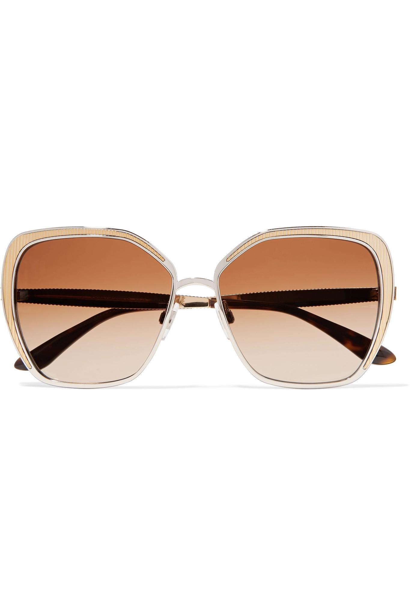 8d4d1e2562e3 Dolce   Gabbana. Women s Metallic Butterfly-frame Silver And Gold-tone ...