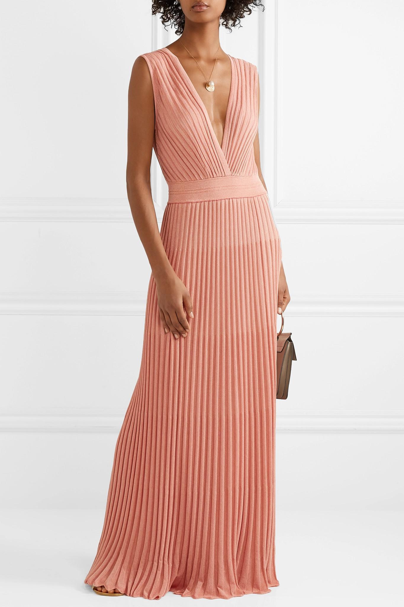 daea3fe3f37 Missoni - Pink Mare Pleated Lurex Maxi Dress - Lyst. View fullscreen