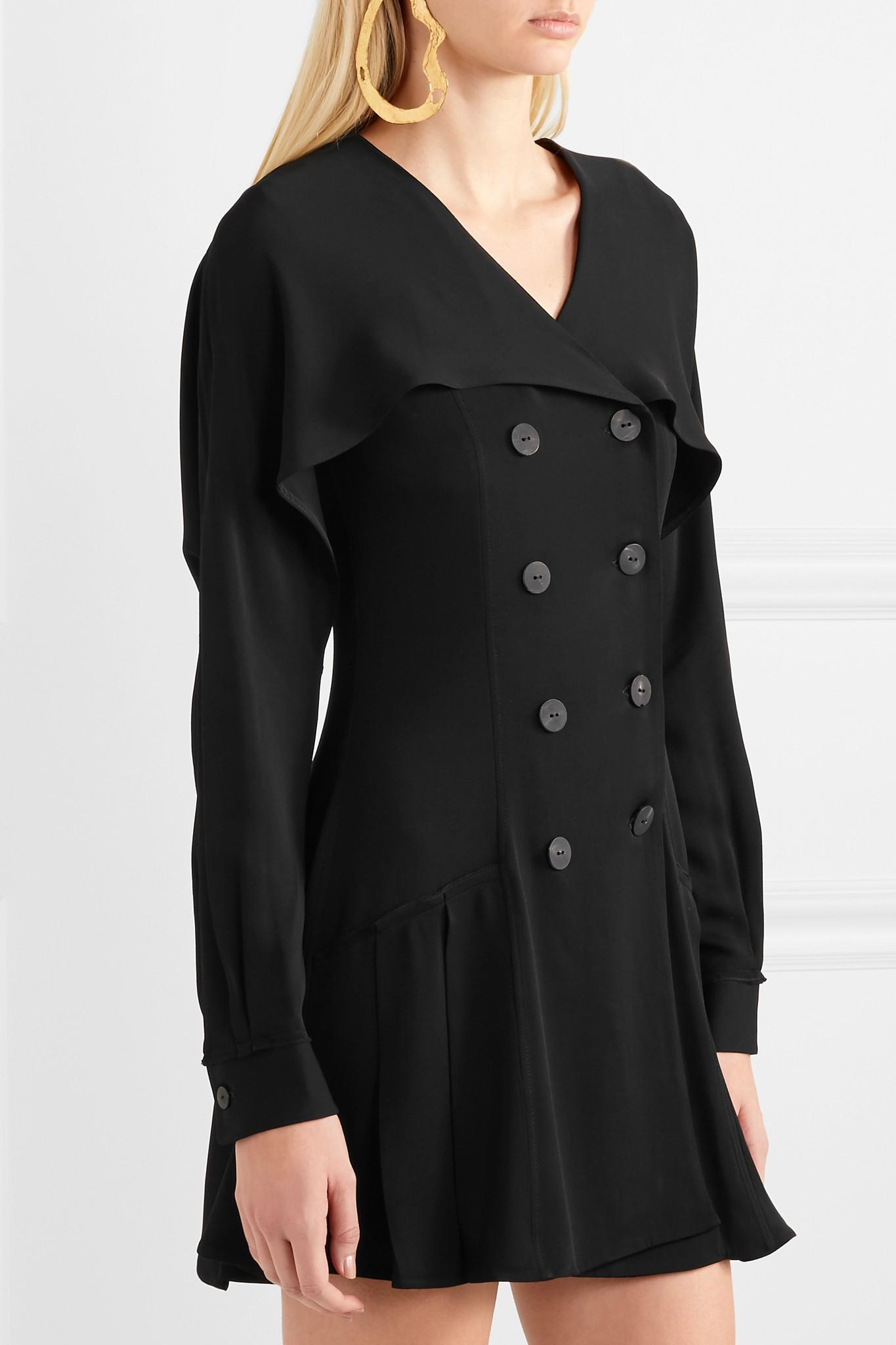 Crepe Mini Dress - Black J.W.Anderson WKXY6fNvnX