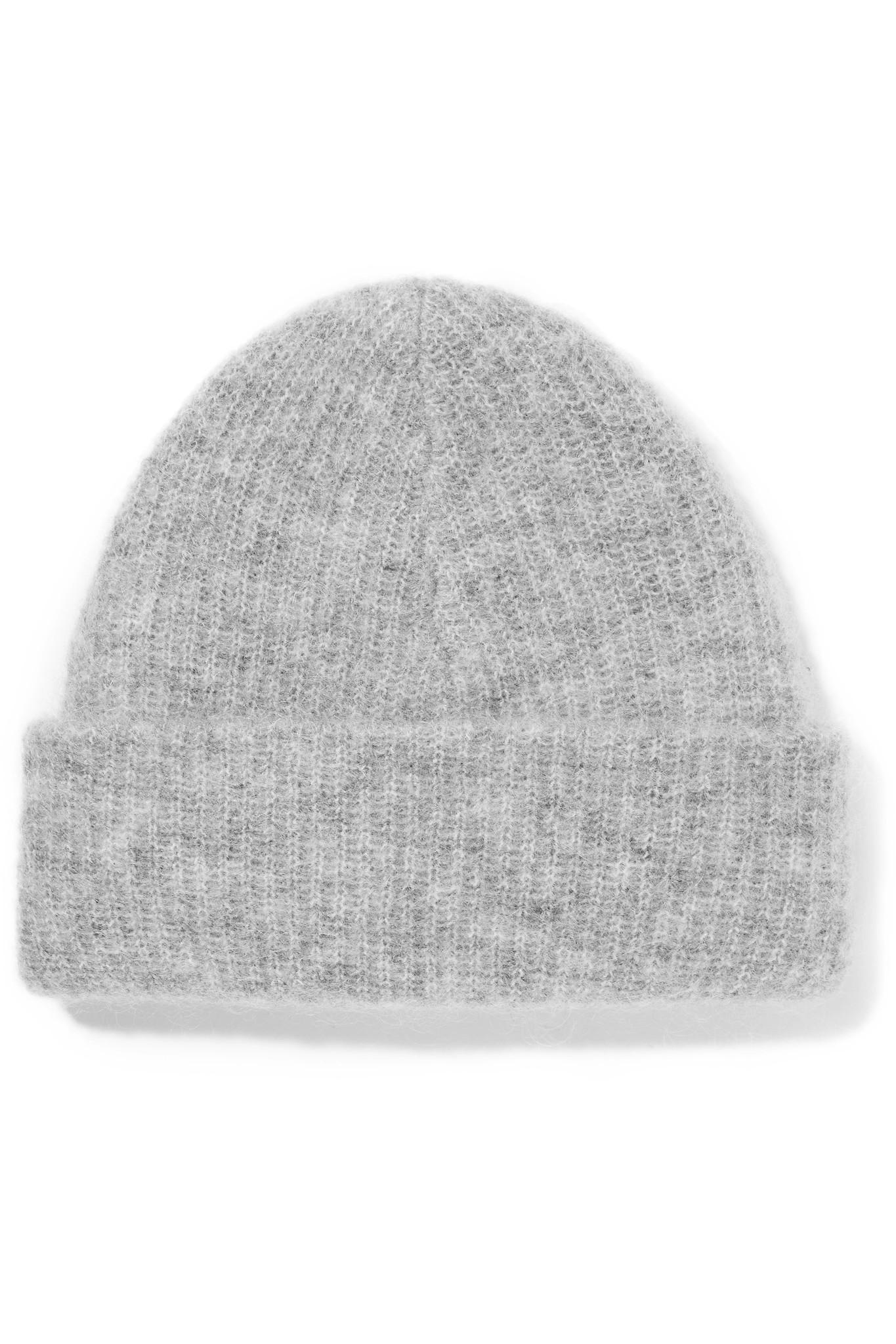 06e5dd11da0df Lyst - Ganni Ribbed-knit Beanie in Gray