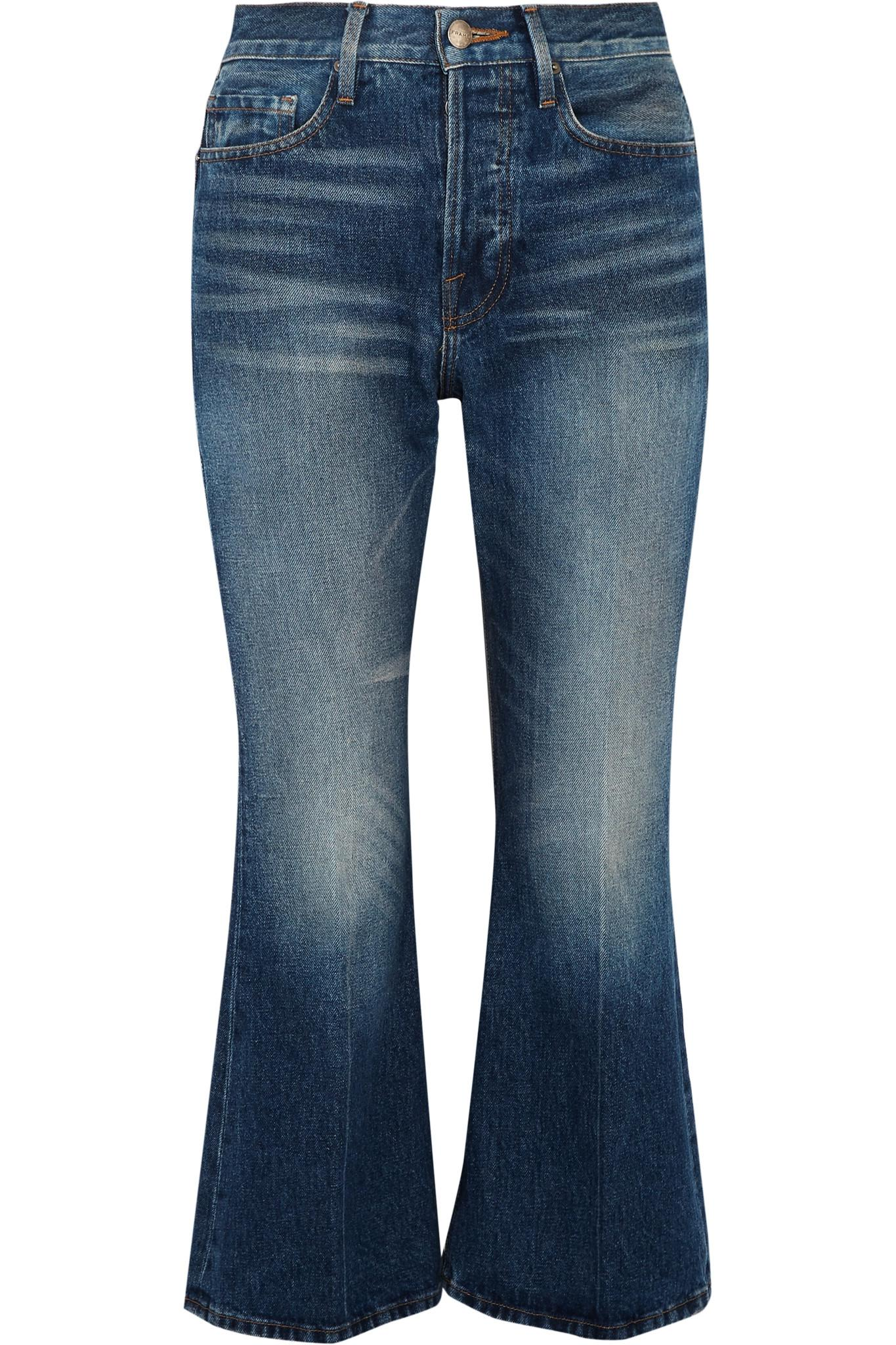 Rigid Re-release Le Cropped High-rise Slim-leg Jeans - Mid denim Frame Denim qsVdgbl
