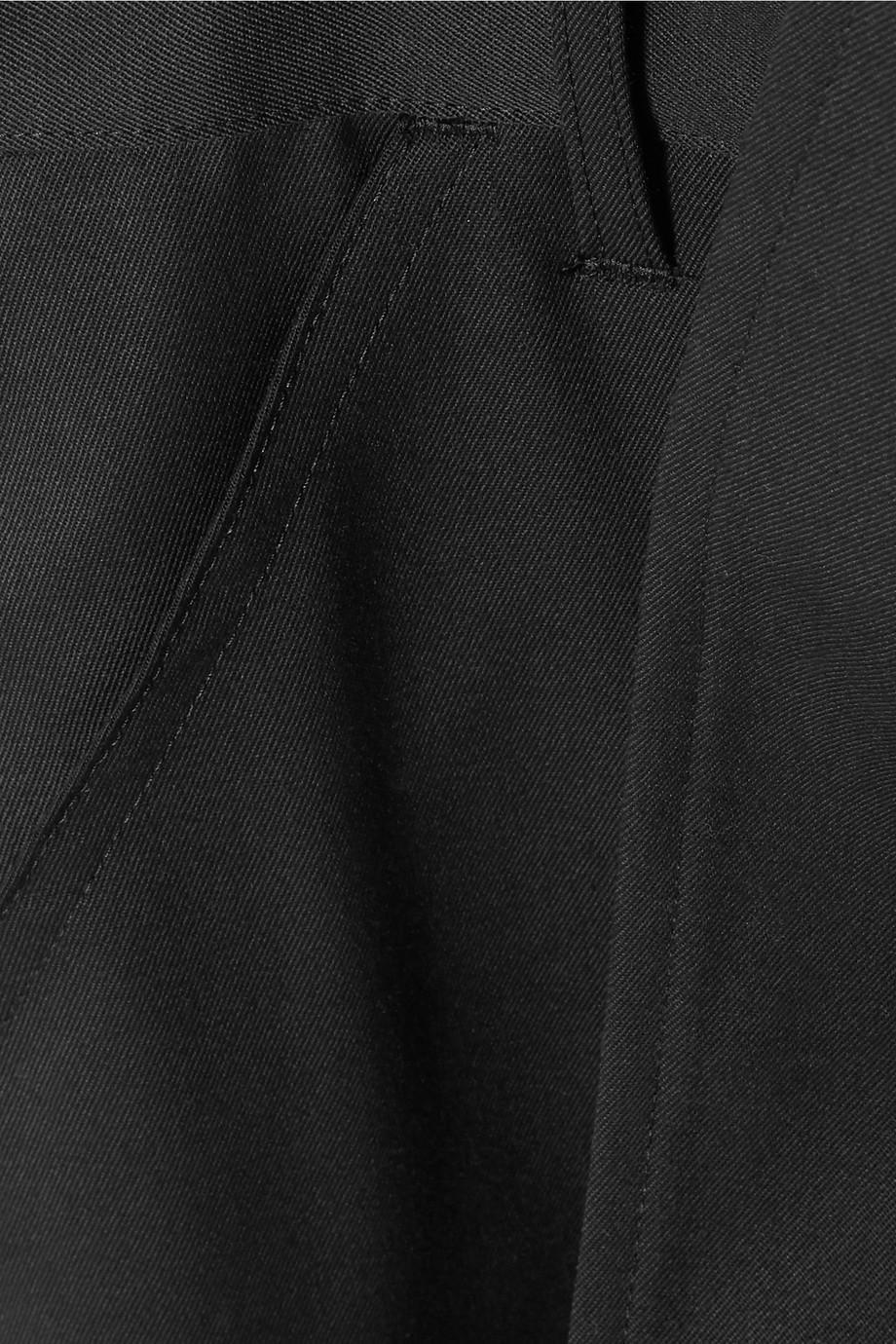Cropped Wool-twill Overalls - Black Comme Des Garçons 0qOICaZYG