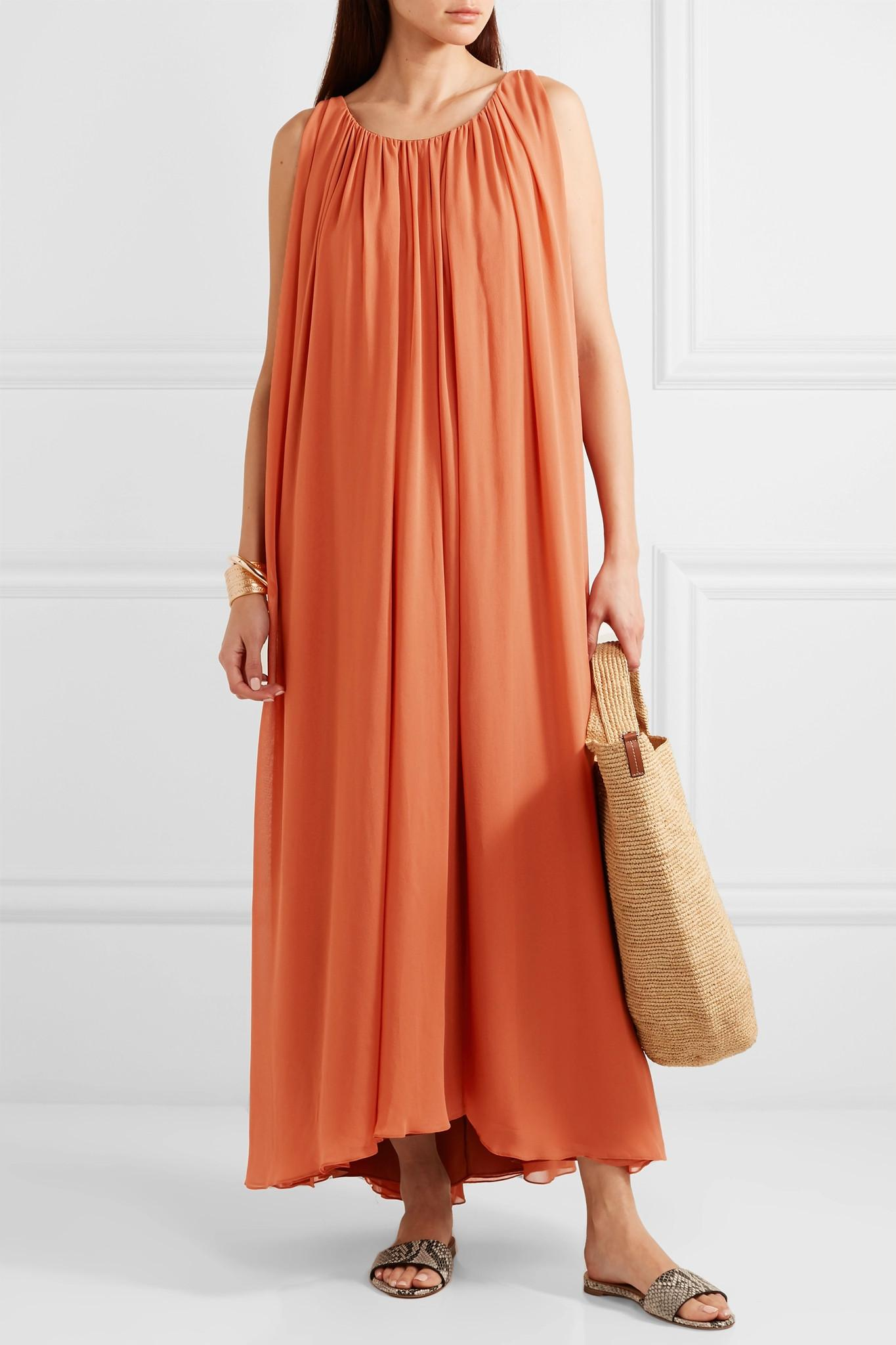 Satin Pleated Wrap Maxi Dress in Champagne - Lavish Alice USA