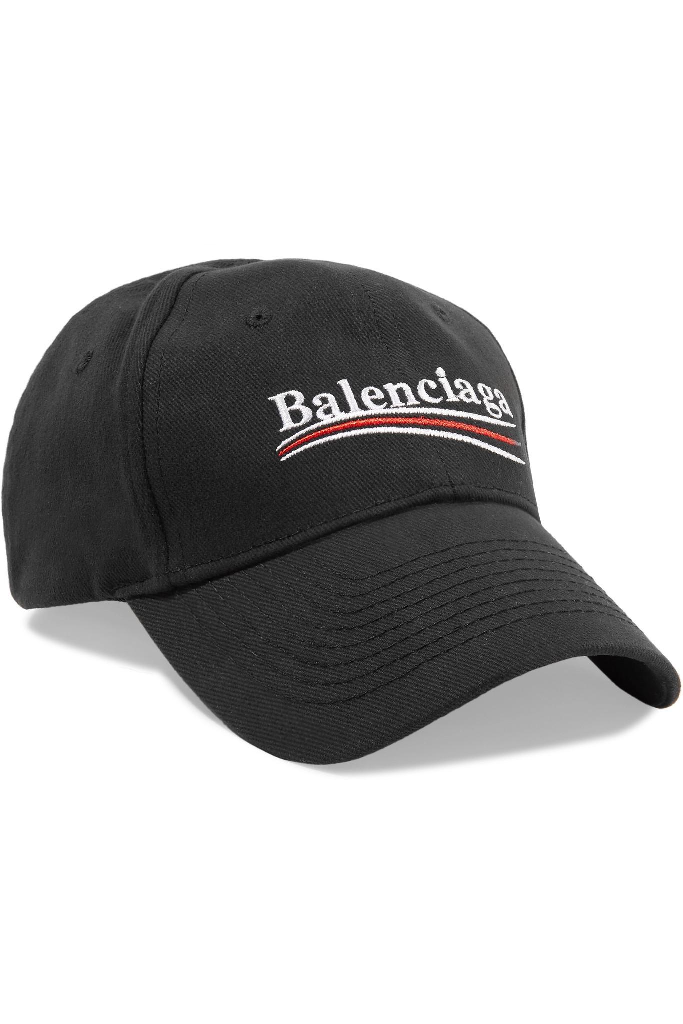 Embroidered Cotton-twill Baseball Cap - Gray Balenciaga zPg5G