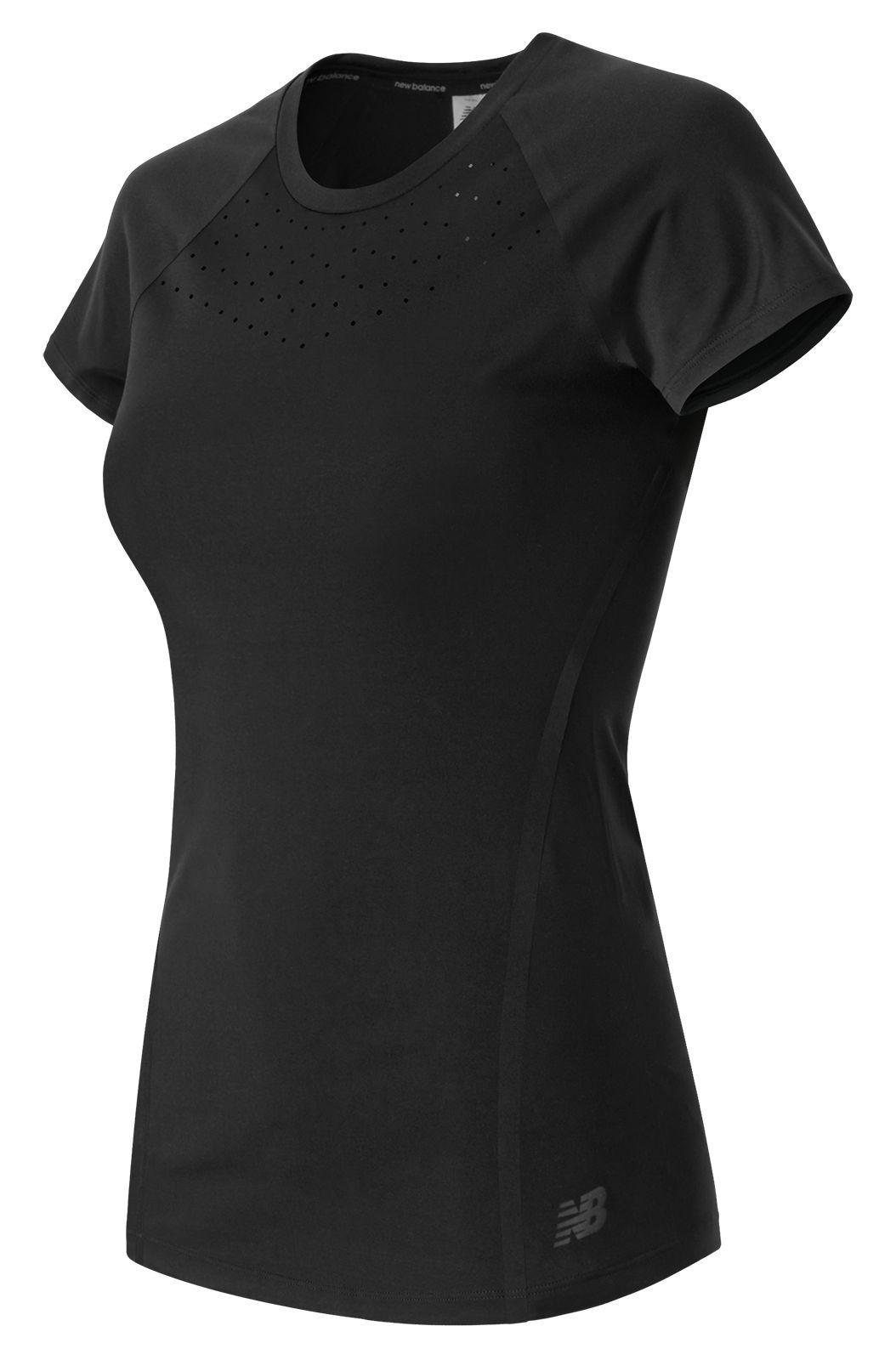 New Balance. Women's Black Trinamic Short Sleeve Top