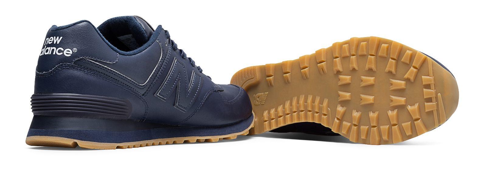 In Men 574 Balance Leather For Blue Lyst New uwiTPXOkZ