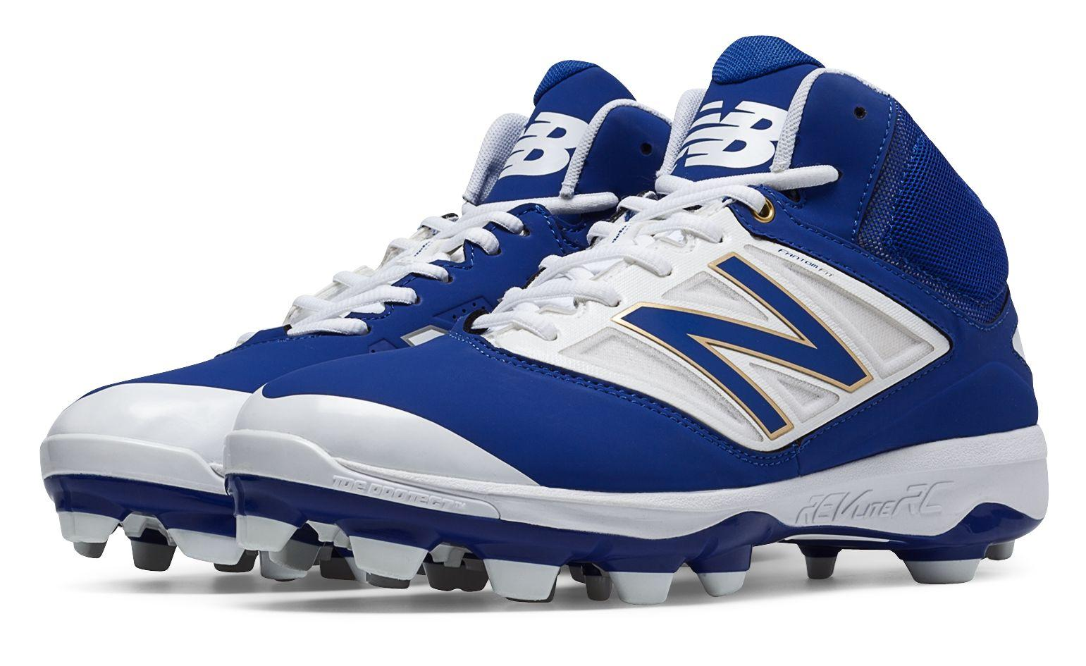 Lyst New Balance Mid Cut 4040v3 Tpu Molded Cleat In Blue