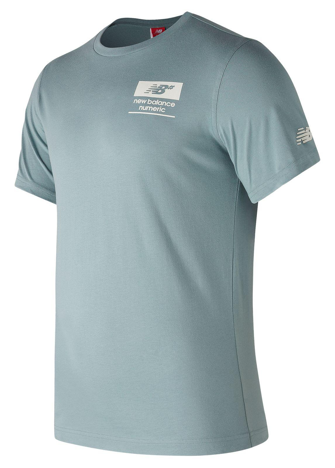 New Balance. Men's Blue Nb Numeric Stacked Tee