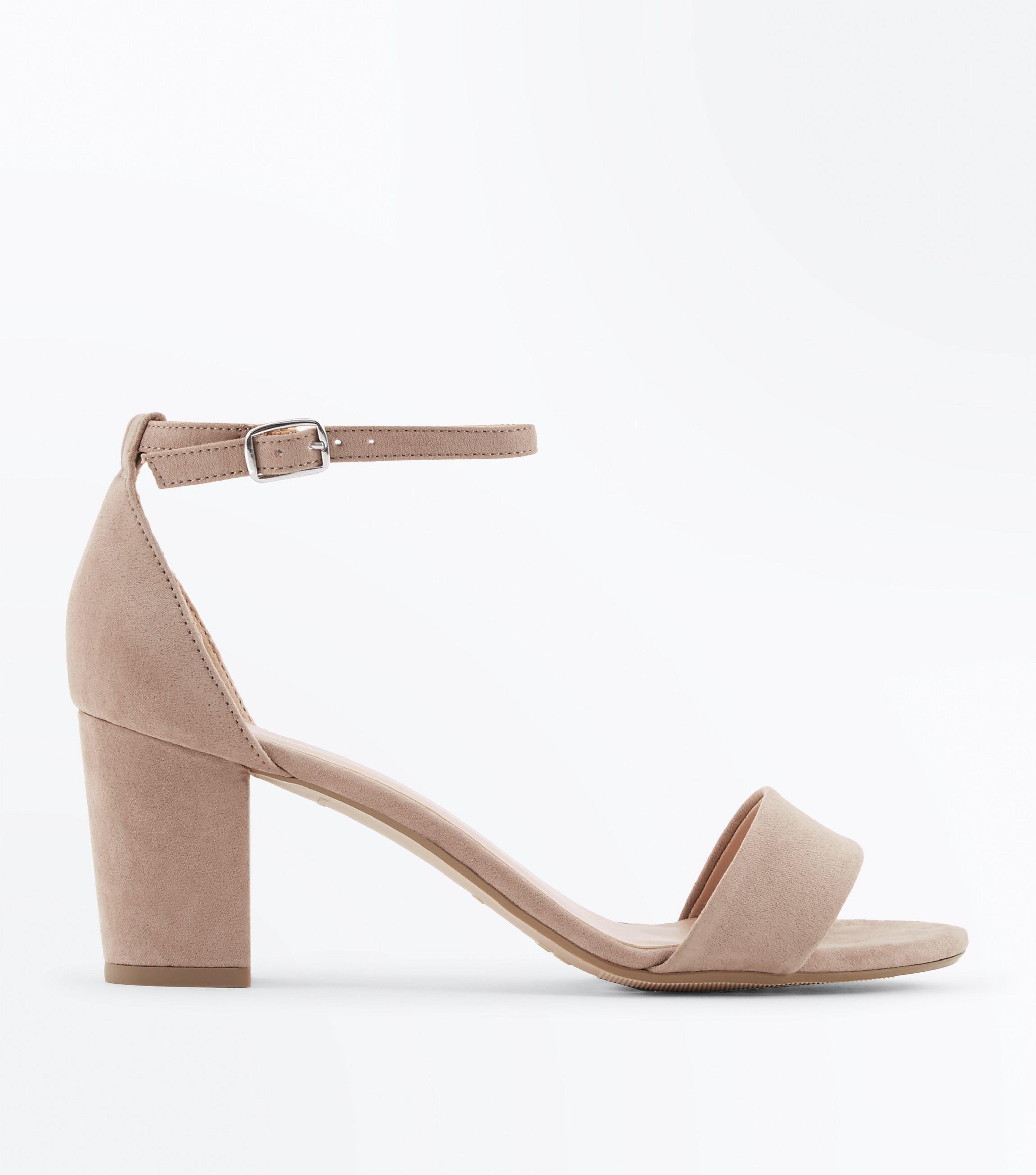 40a4b3b54992 New Look Teens Light Brown Suedette Block Heels in Brown - Lyst