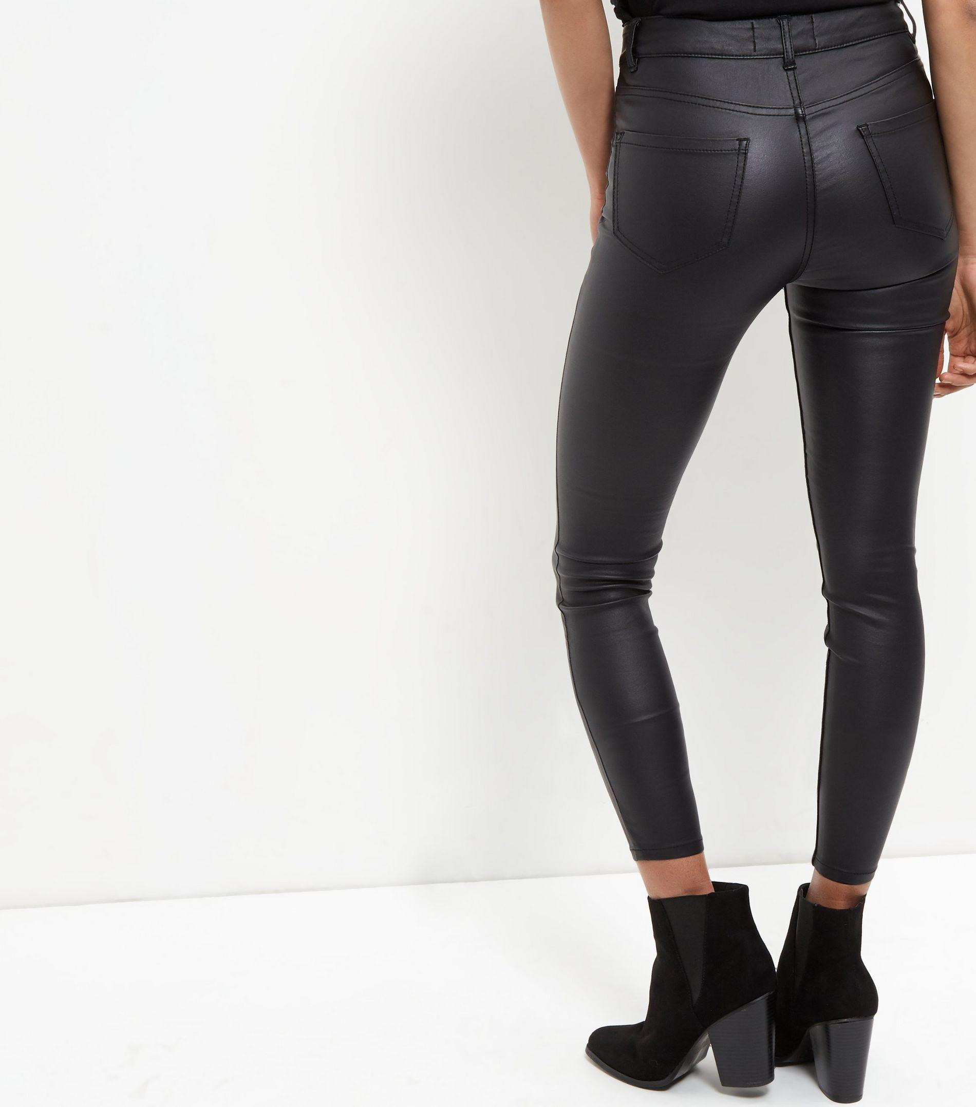 New look Black Coated Supersoft Super Skinny Jeans in ...