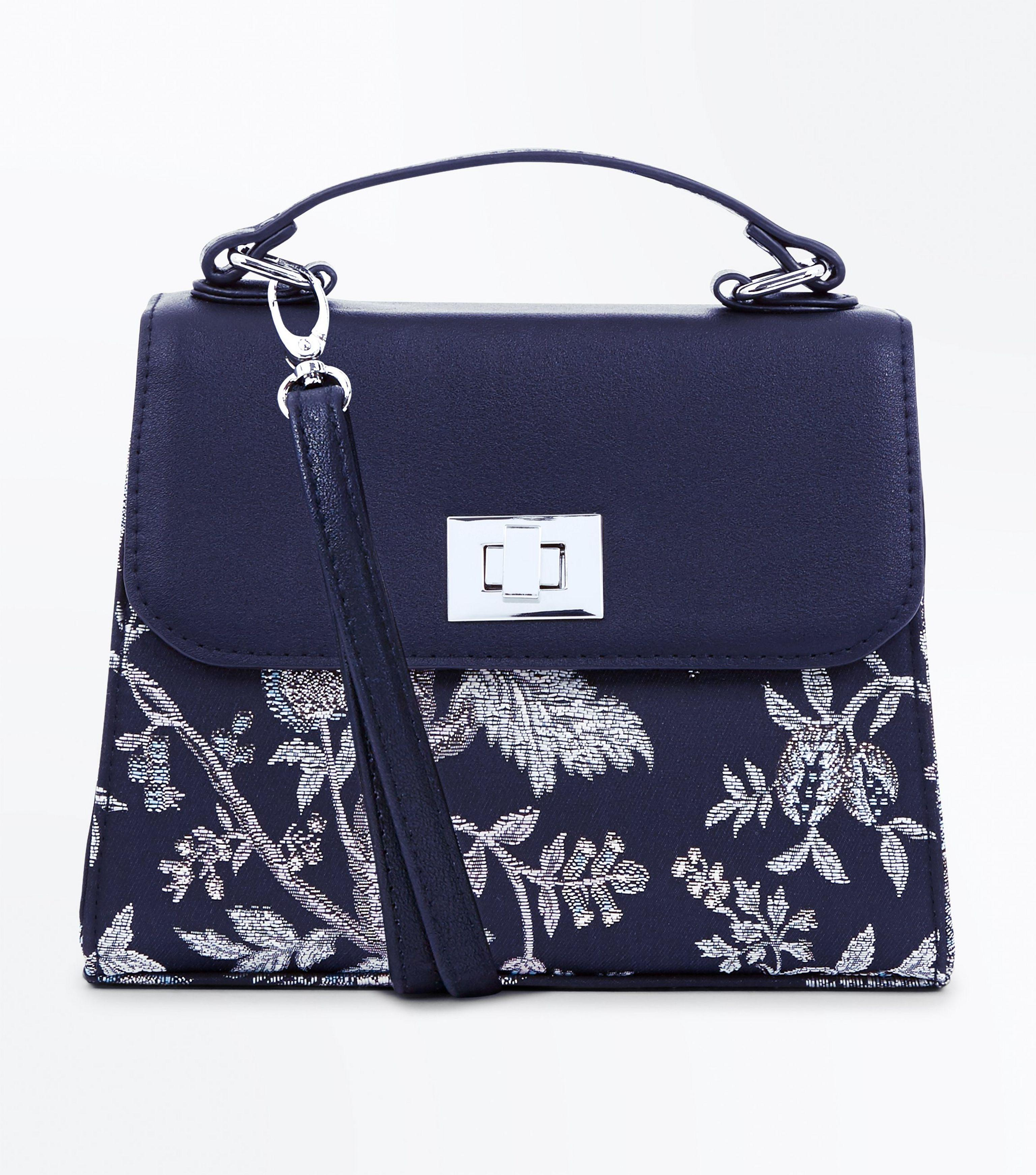 beauty quality largest selection of New Look Synthetic Navy Baroque Embroidered Cross Body Bag ...