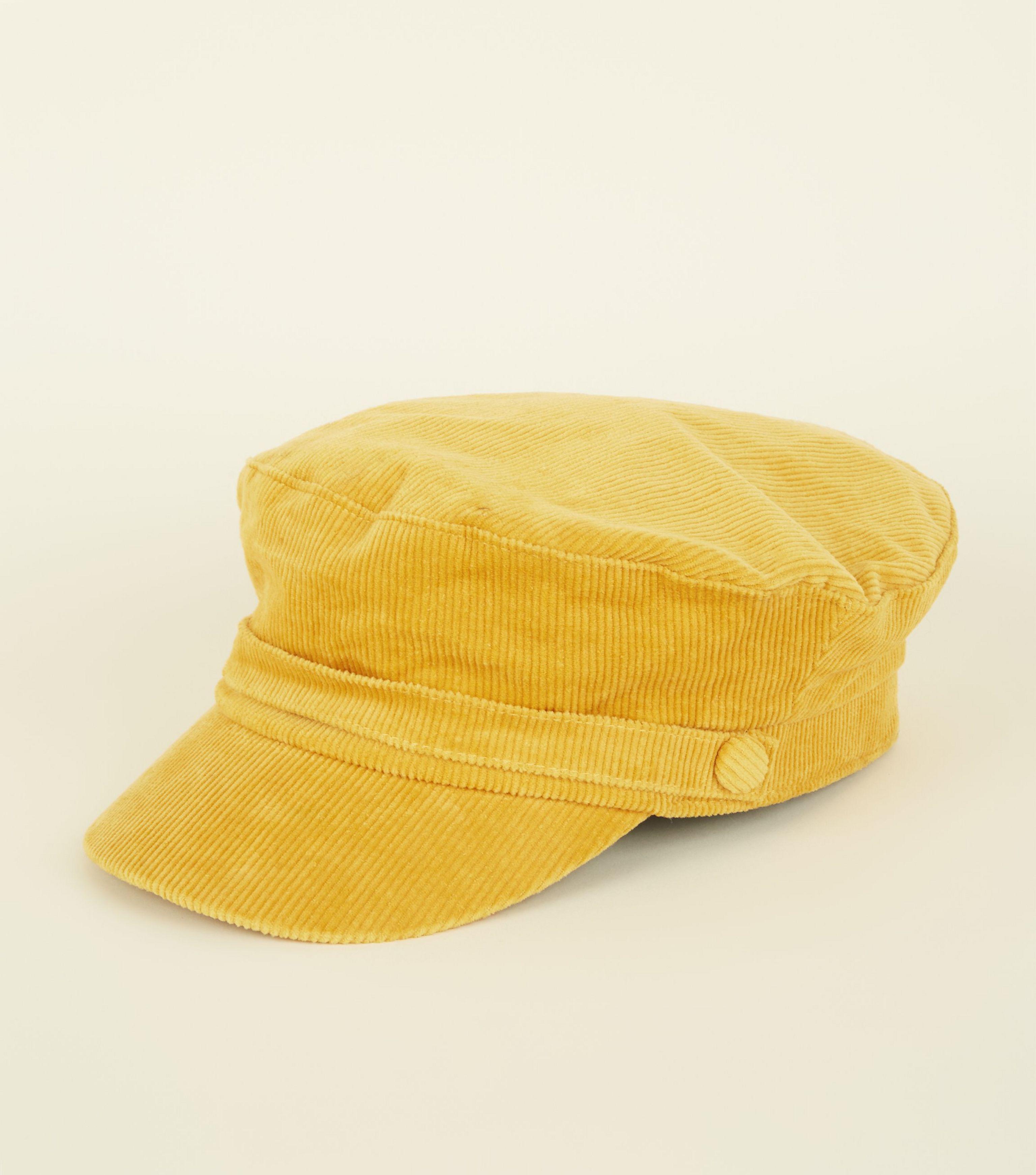 adeda76b1b626 New Look Mustard Corduroy Baker Boy Hat in Yellow - Lyst