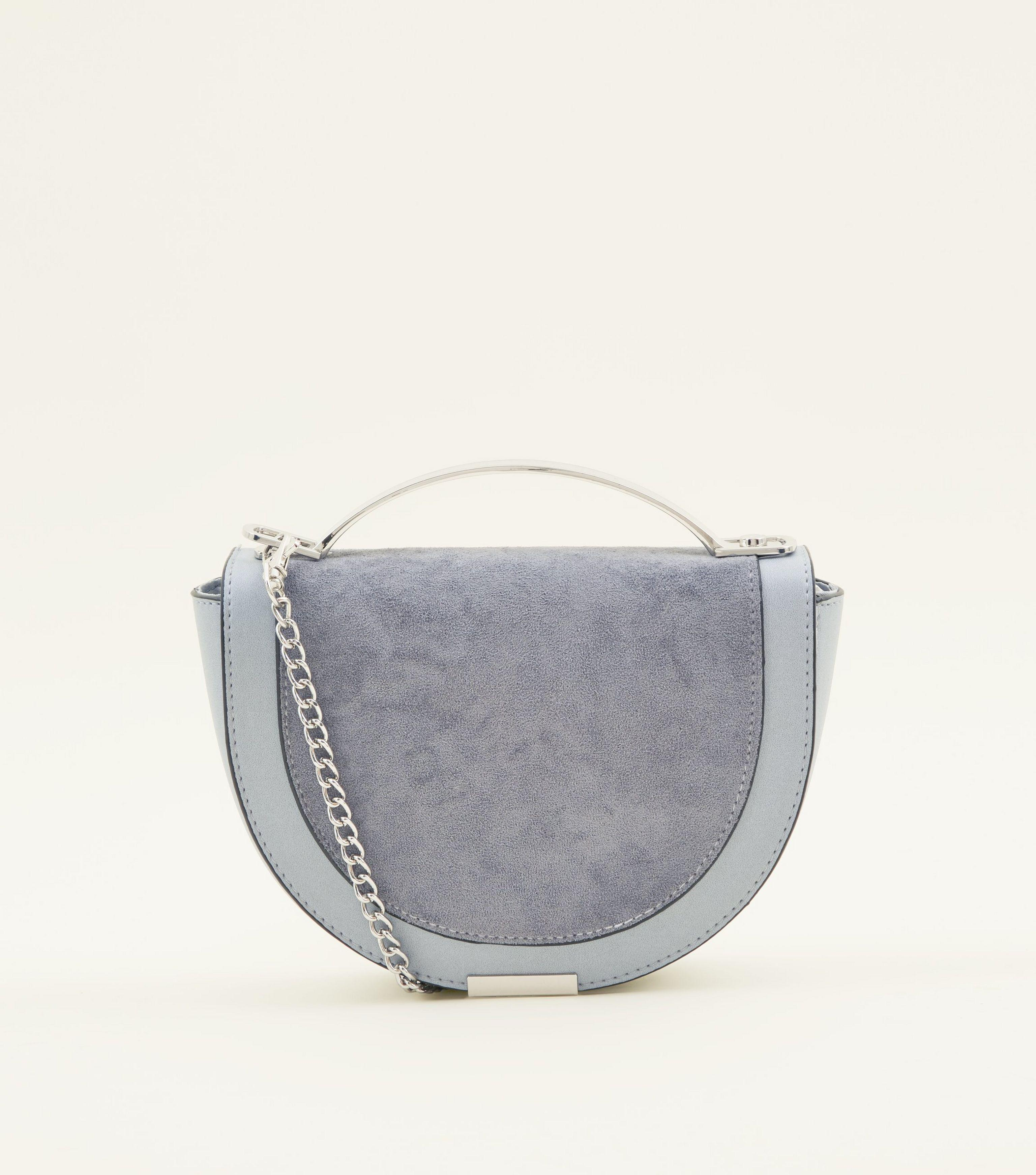 New Look Pale Blue Curved Metal Handle Cross Body Bag in Blue - Lyst c1dbab885eec7