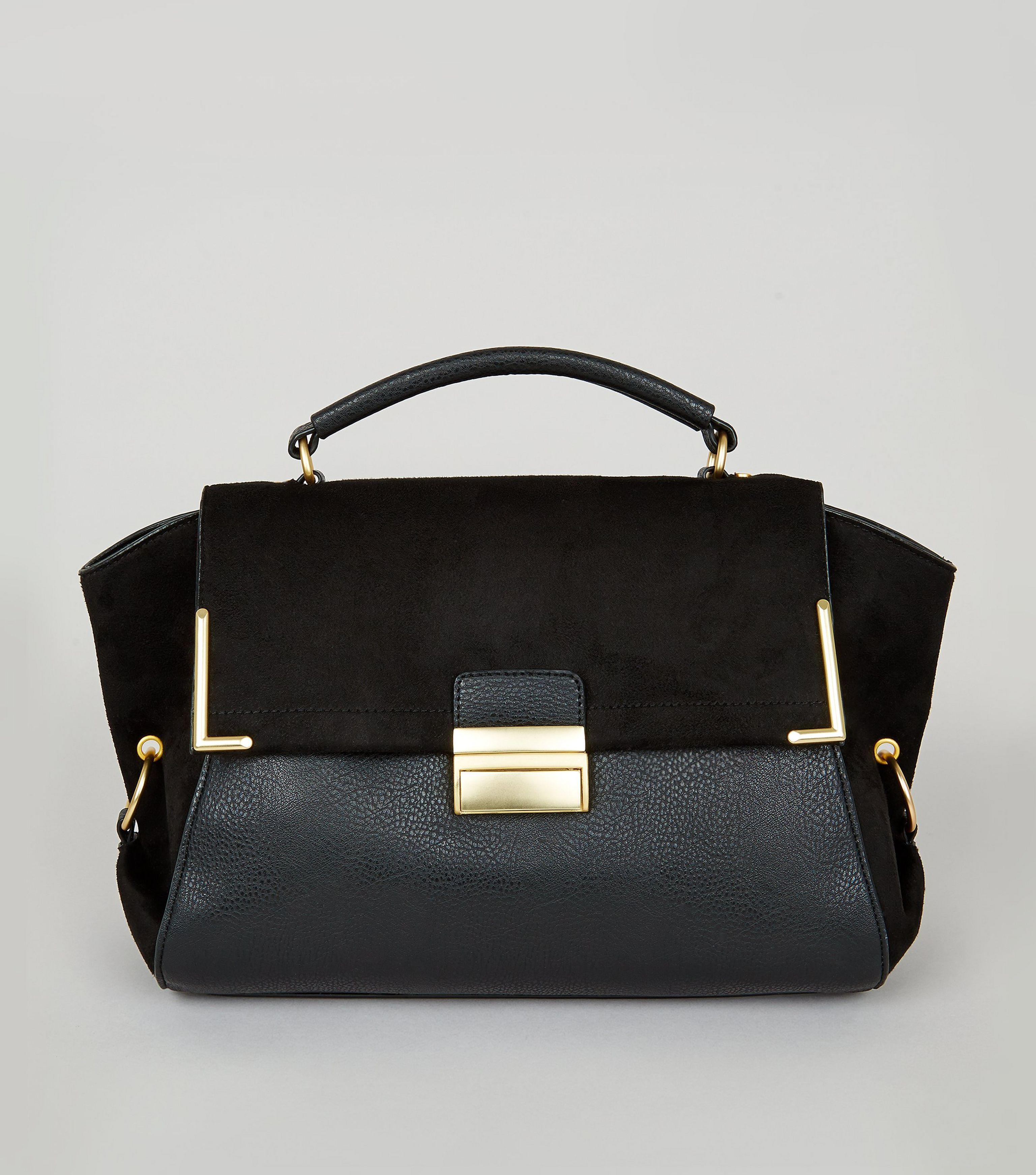 New Look VALARIE FLAP TOTE - Handtasche - black