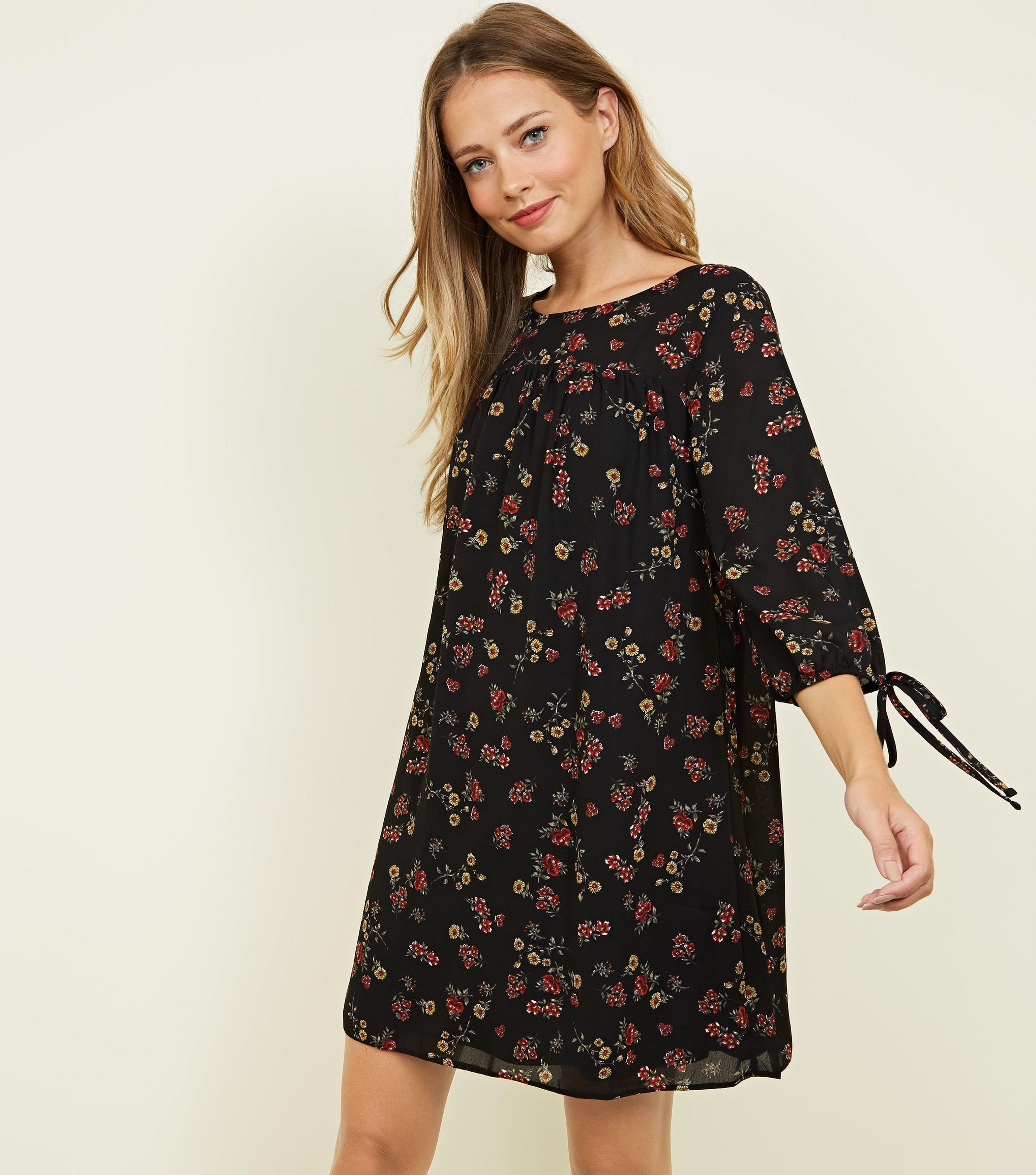 fd559f06699 Apricot - Black Vintage Ditsy Floral Smock Dress - Lyst. View fullscreen