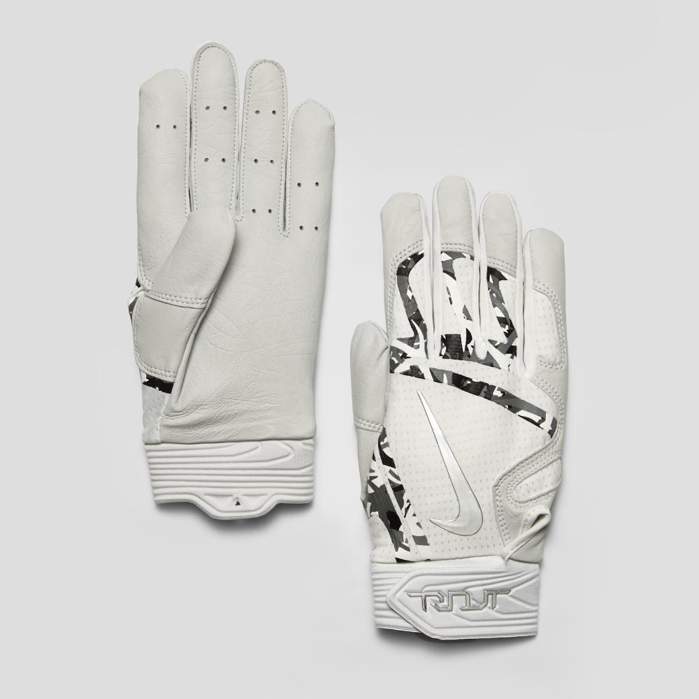 ecba3b611ece Lyst - Nike Trout Elite Baseball Batting Gloves in White for Men