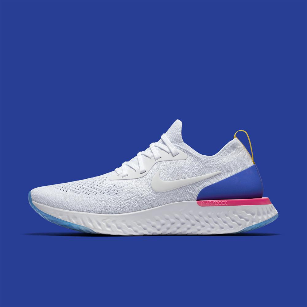 8beca628dc93 Lyst - Nike Epic React Flyknit Women s Running Shoe in Blue