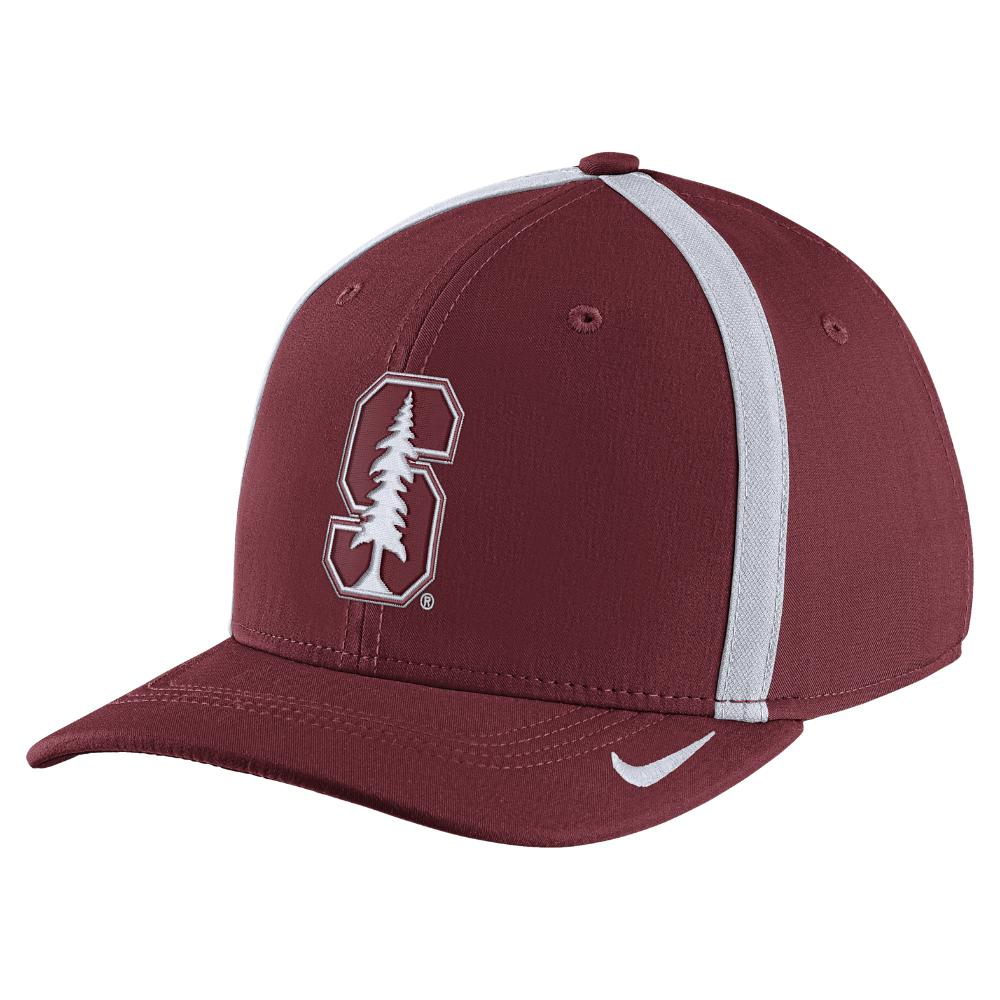 release date: a3eb1 daf20 Nike - Red College Aerobill Swoosh Flex (stanford) Fitted Hat for Men - Lyst.  View fullscreen