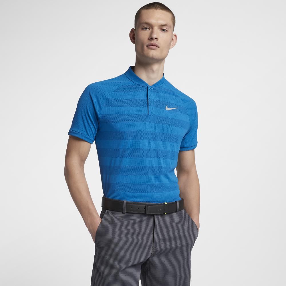 83ce3c69a2 Nike Zonal Cooling Momentum Men's Slim Fit Golf Polo Shirt in Blue ...