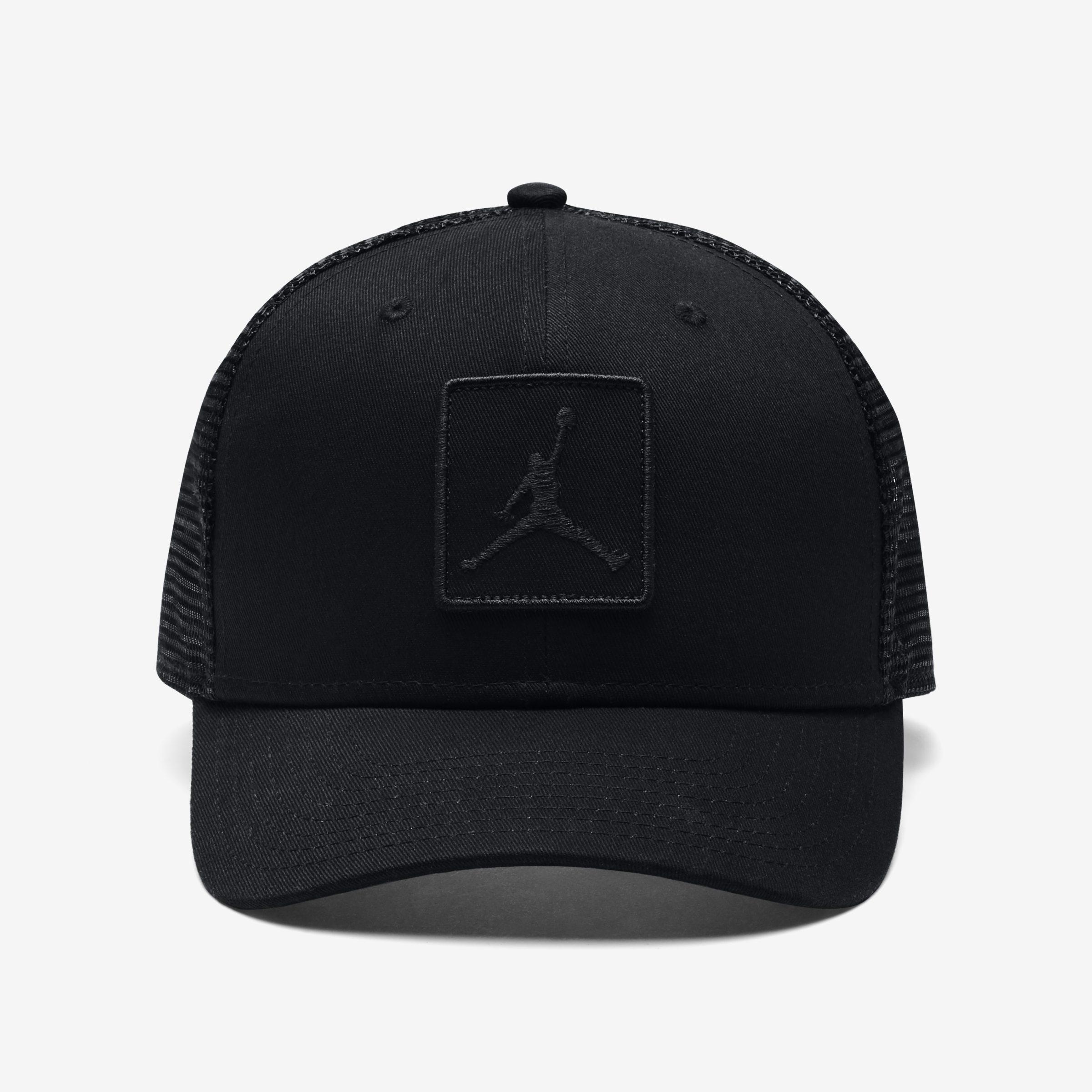 525d2f546db5e ... cheapest nike. mens black jordan jumpman classic99 trucker adjustable  hat c822f 43a60