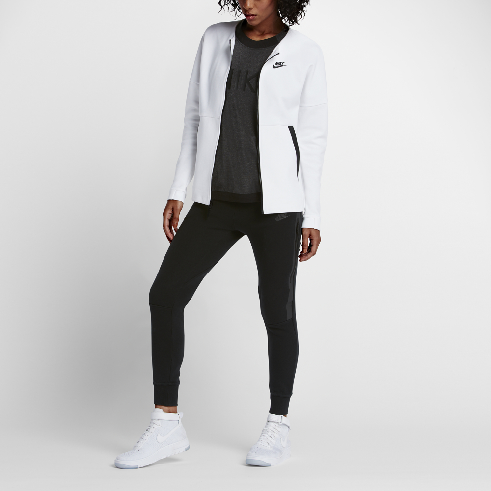Nike Sportswear Tech Fleece Women S Jacket In White Lyst