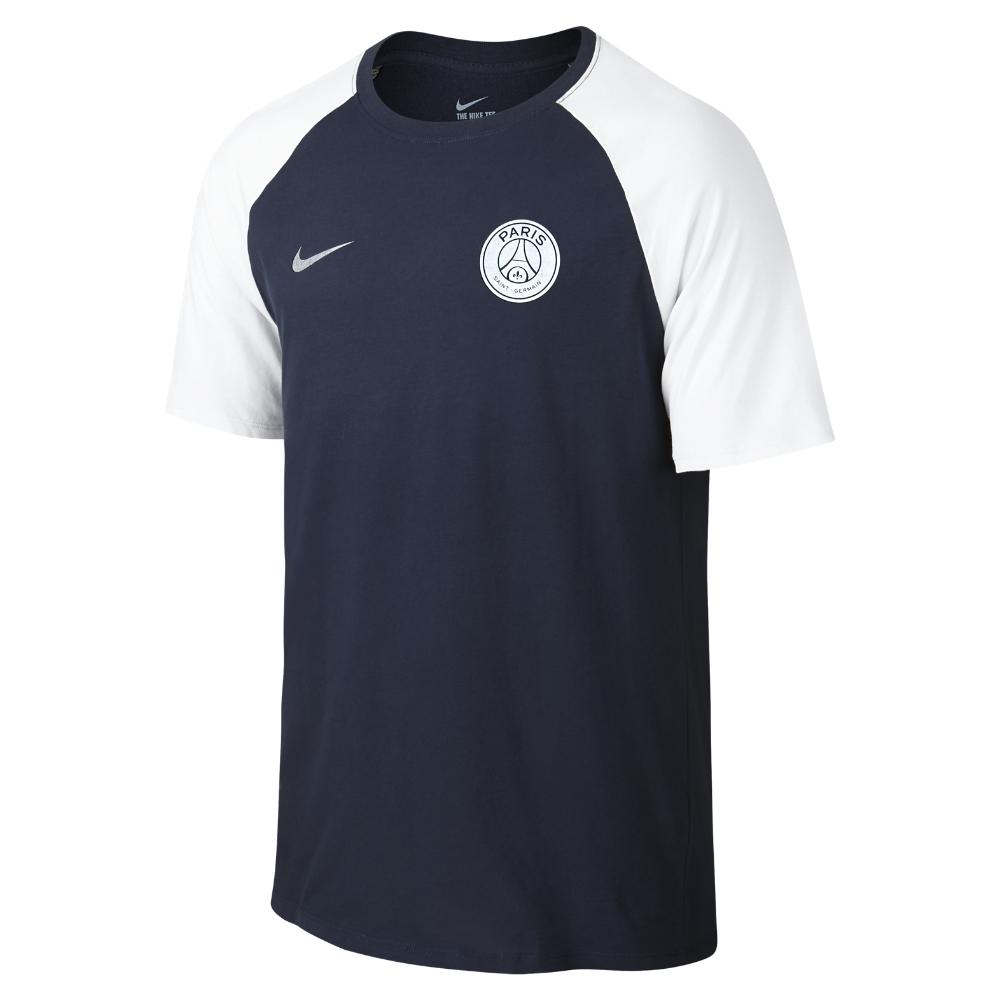 nike paris saint germain match men 39 s t shirt in blue for men lyst. Black Bedroom Furniture Sets. Home Design Ideas