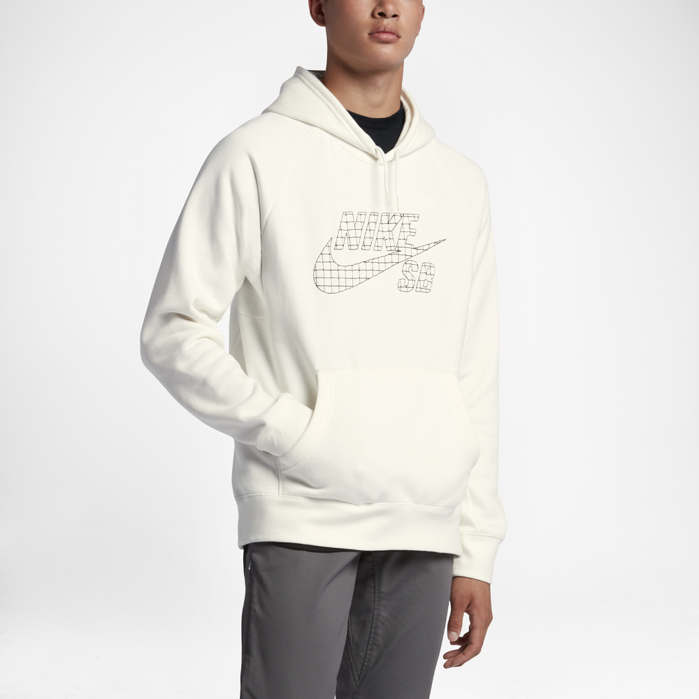 d53267b235b7 Lyst - Nike Sb Icon Grid Fill Pullover Men s Hoodie in White for Men
