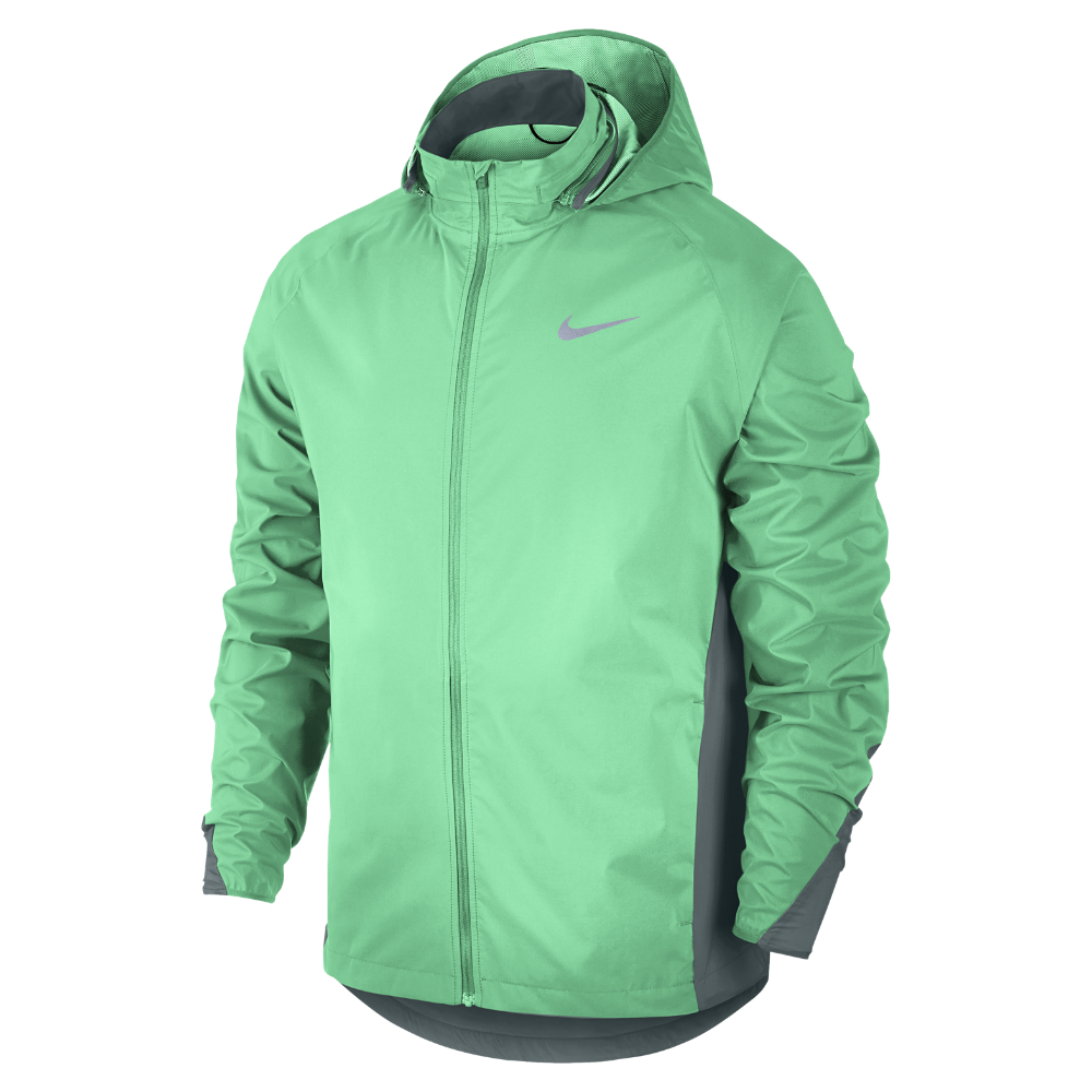 Lyst Nike Shield Men S Running Jacket In Green For Men