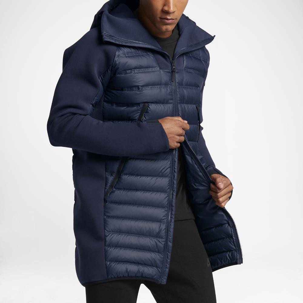 8696510a674a Lyst - Nike Sportswear Tech Fleece Aeroloft Men s Down Parka in Blue ...