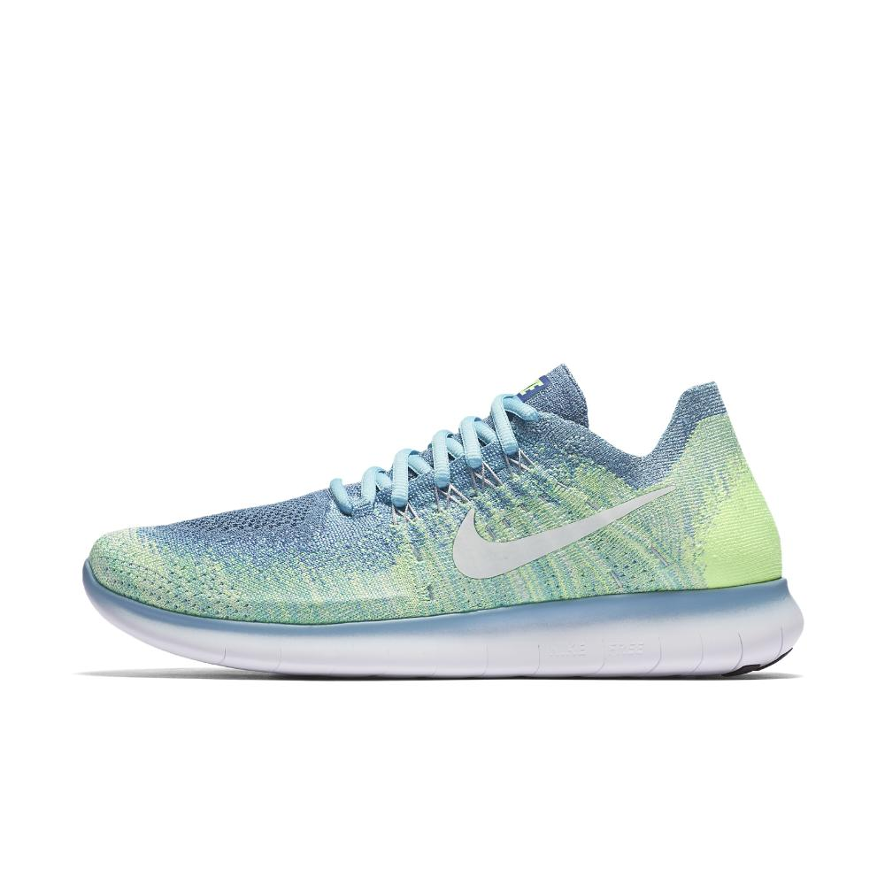 81263be13a36 Lyst - Nike Free Rn Flyknit 2017 Women s Running Shoe in Blue