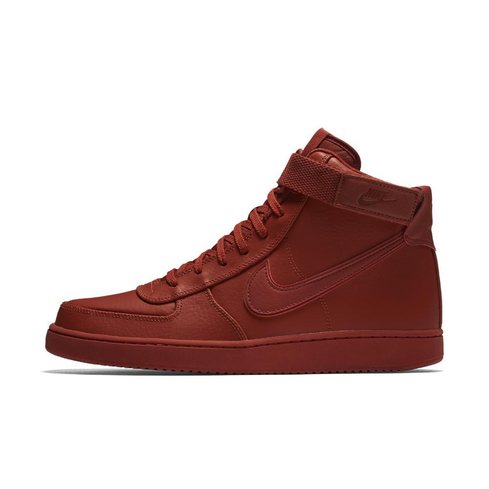 lyst nike vandalo alto supremo cuoio delle scarpe maschili in rosso per gli uomini.