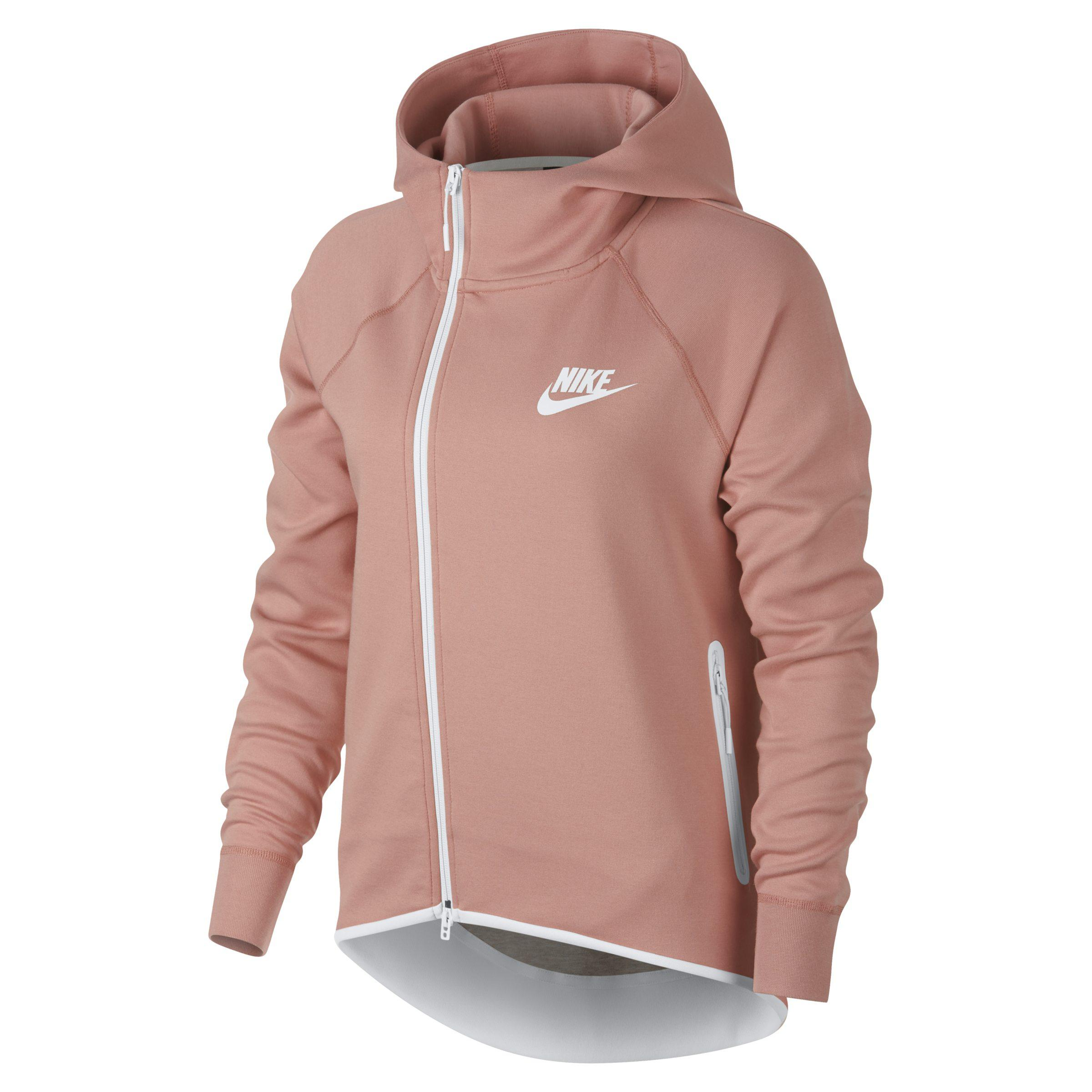 88b45ec43fc8 Nike Sportswear Tech Fleece Full-zip Cape in Pink - Lyst