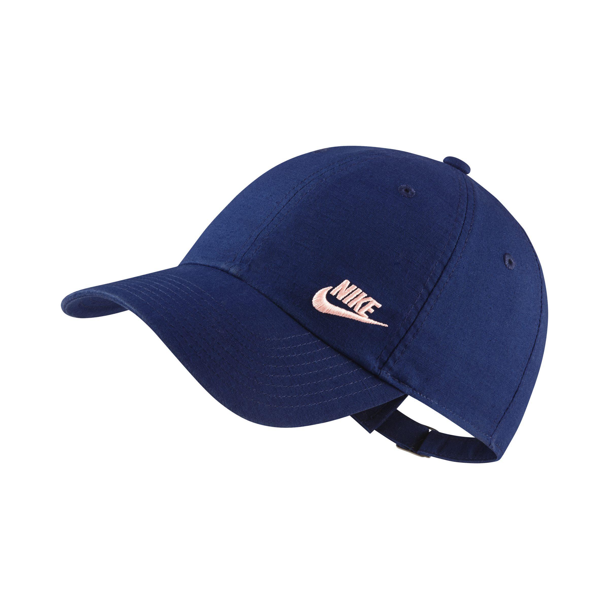 4d1b73cadf6 Nike Sportswear Heritage 86 Futura Adjustable Hat in Blue - Lyst