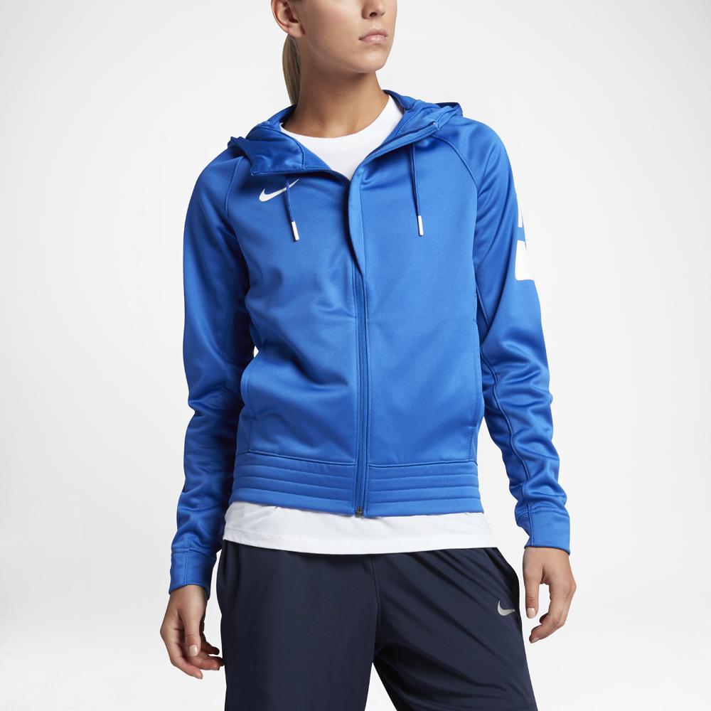 Lyst - Nike Therma Elite Women s Basketball Hoodie in Blue c009ced650