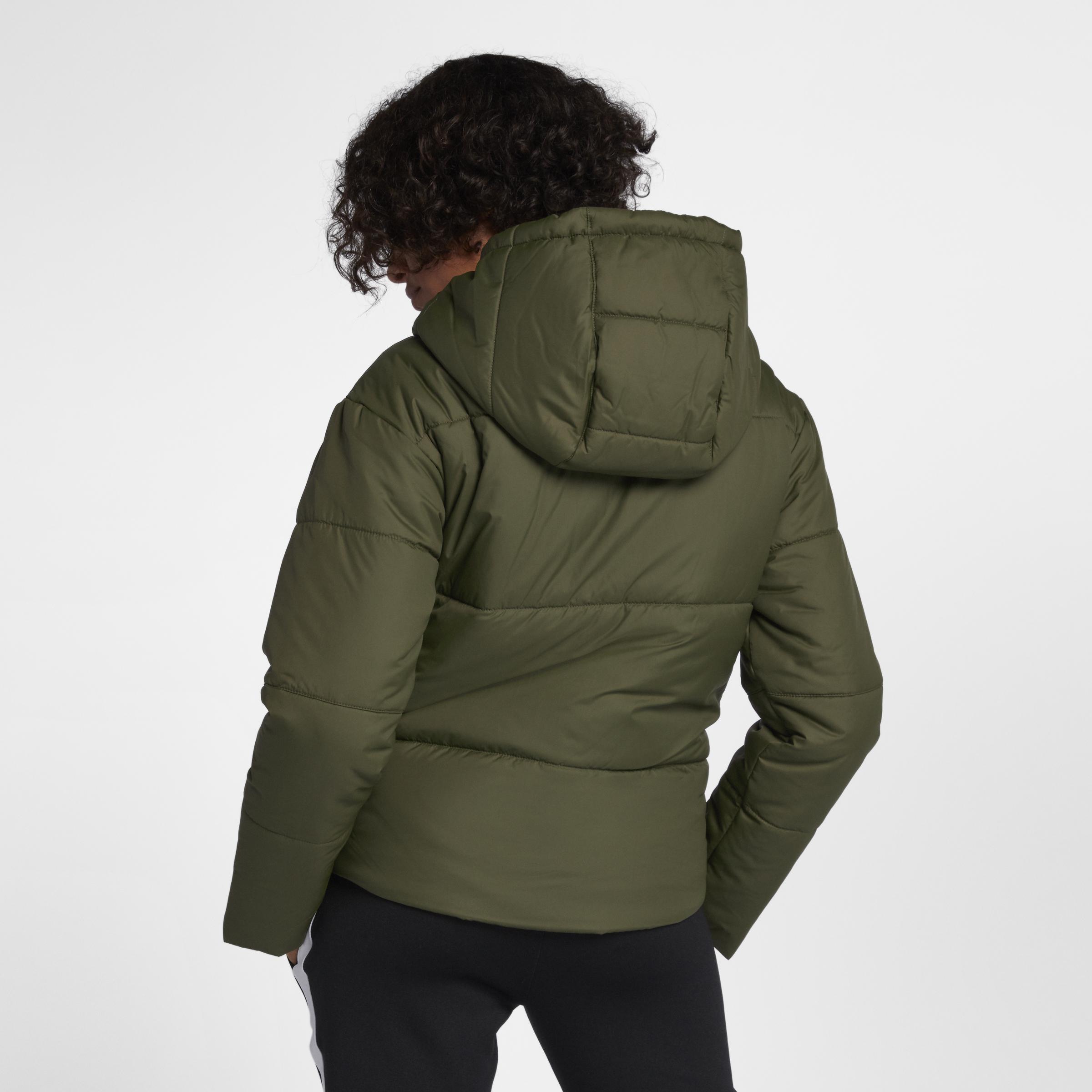 new arrival 770df 1708a Vert Femme Pour Veste En Sportswear Lyst Coloris Synthetic Fill Nike zFq1zvw