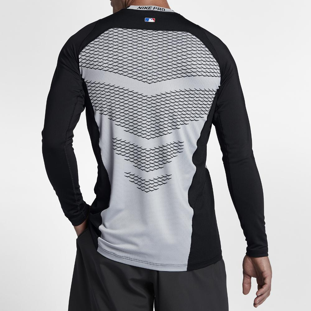 795a773d Nike Pro Hypercool Men's Long Sleeve Baseball Top in Gray for Men - Lyst