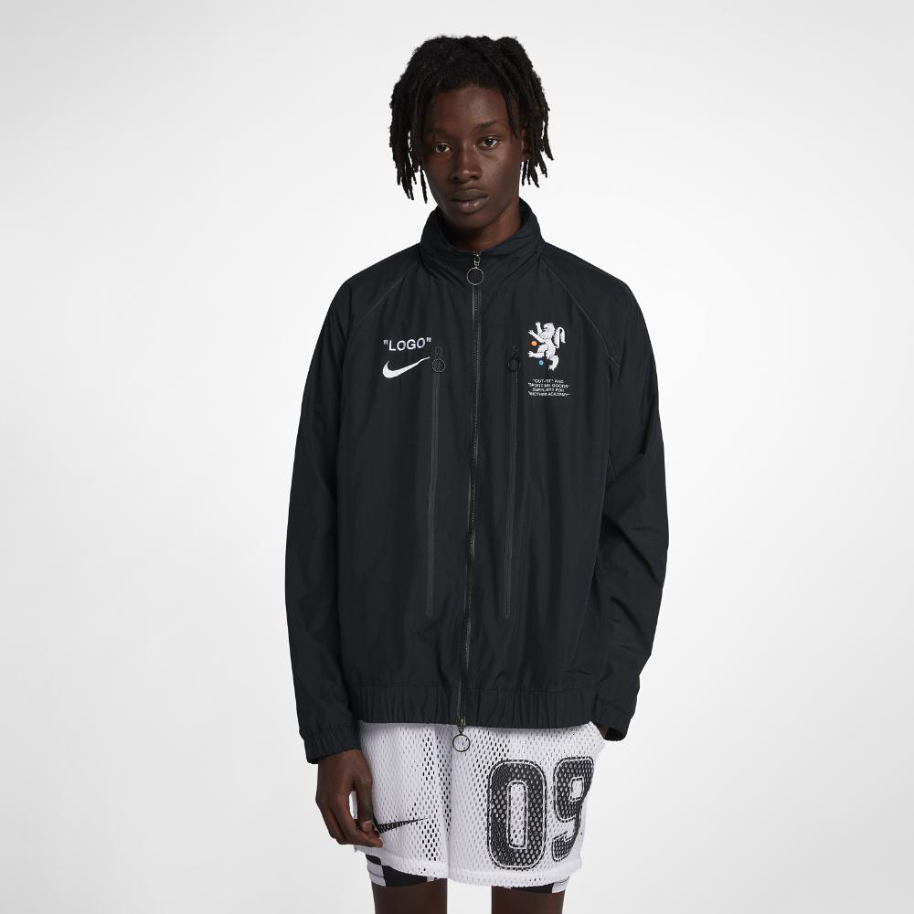 634cabeab Nike X Off-white Men's Track Jacket in Black for Men - Lyst