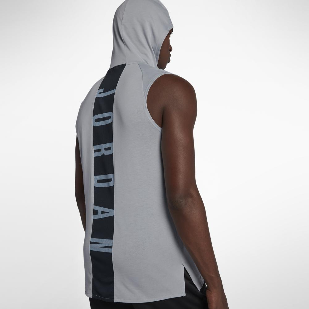 bab97981a Nike 23 Alpha Men's Hooded Sleeveless Training Top, By Nike in Gray ...