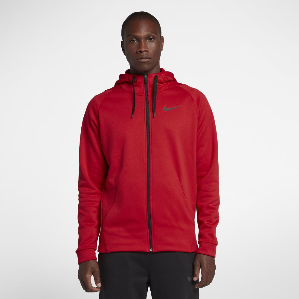 23fc7f13945b Lyst - Nike Dri-fit Therma Men s Full-zip Training Hoodie in Red for Men