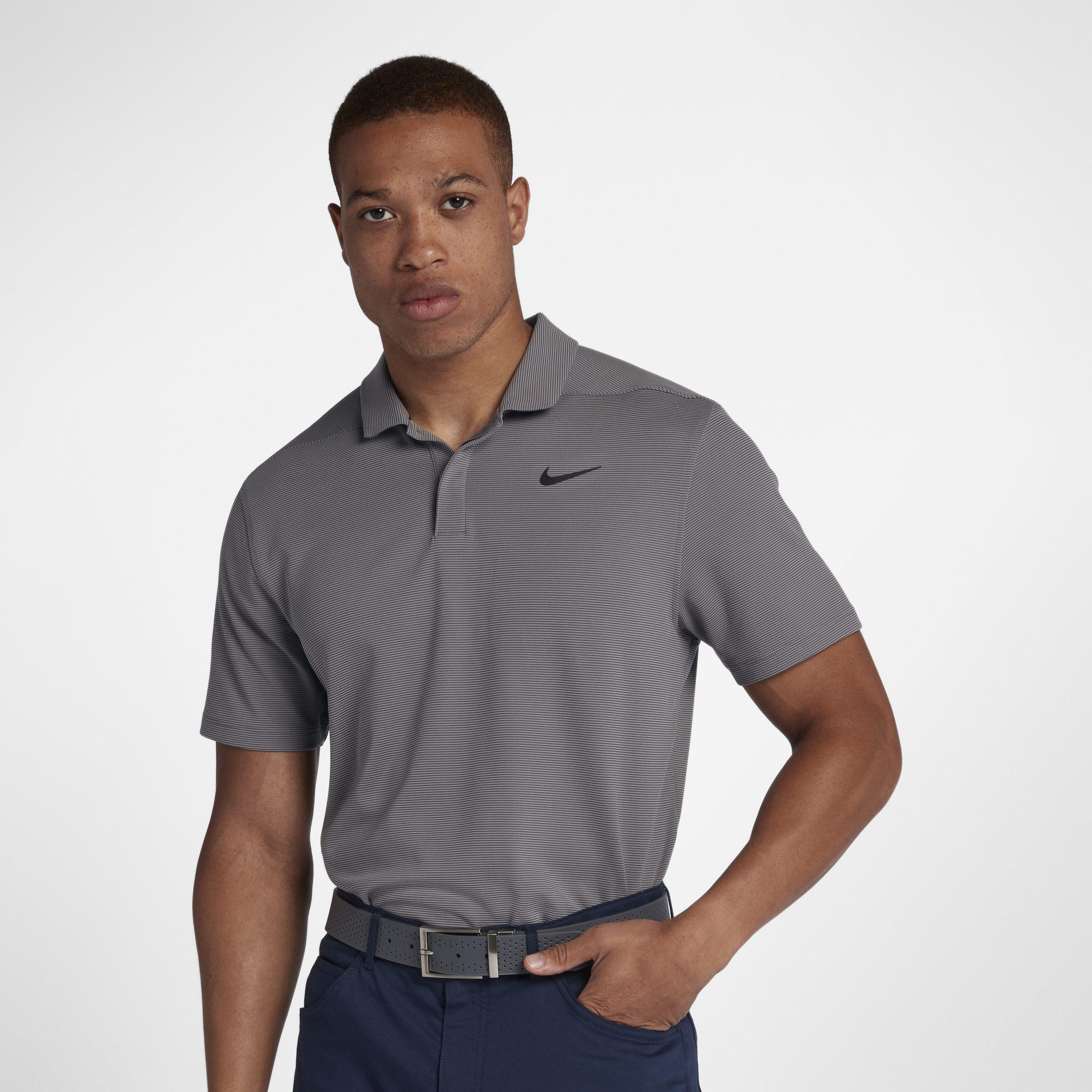 8db03eea Nike Aeroreact Victory Golf Polo in Gray for Men - Lyst