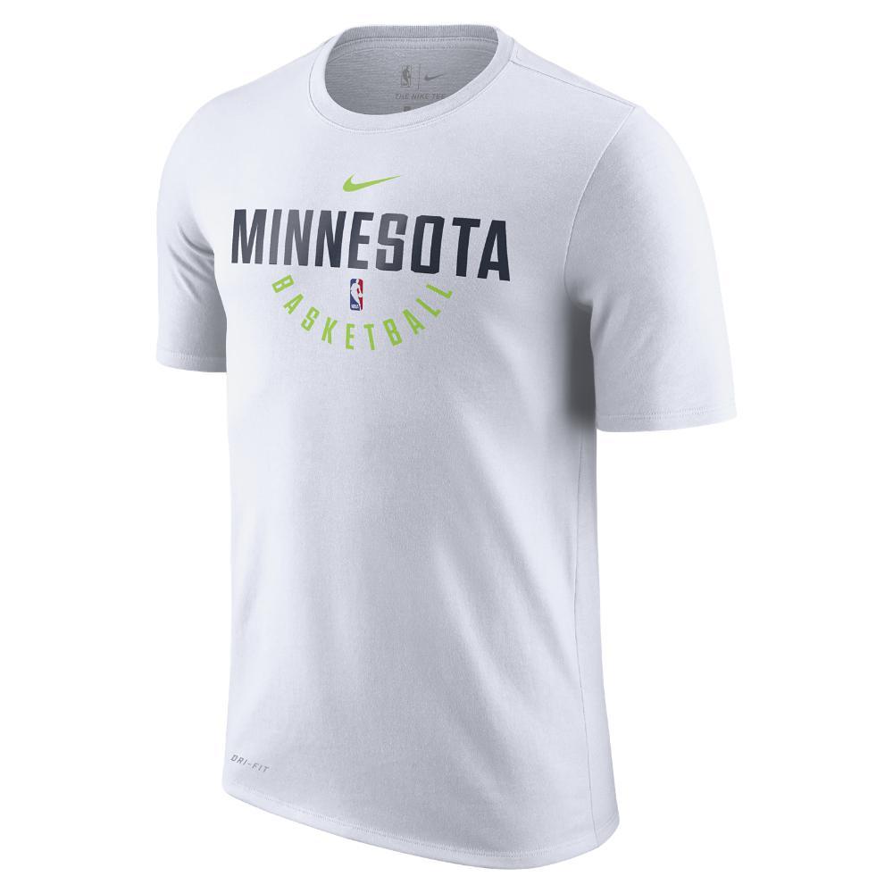 Lyst - Nike Minnesota Timberwolves Dry Men s Nba T-shirt in White ... bcb39afba