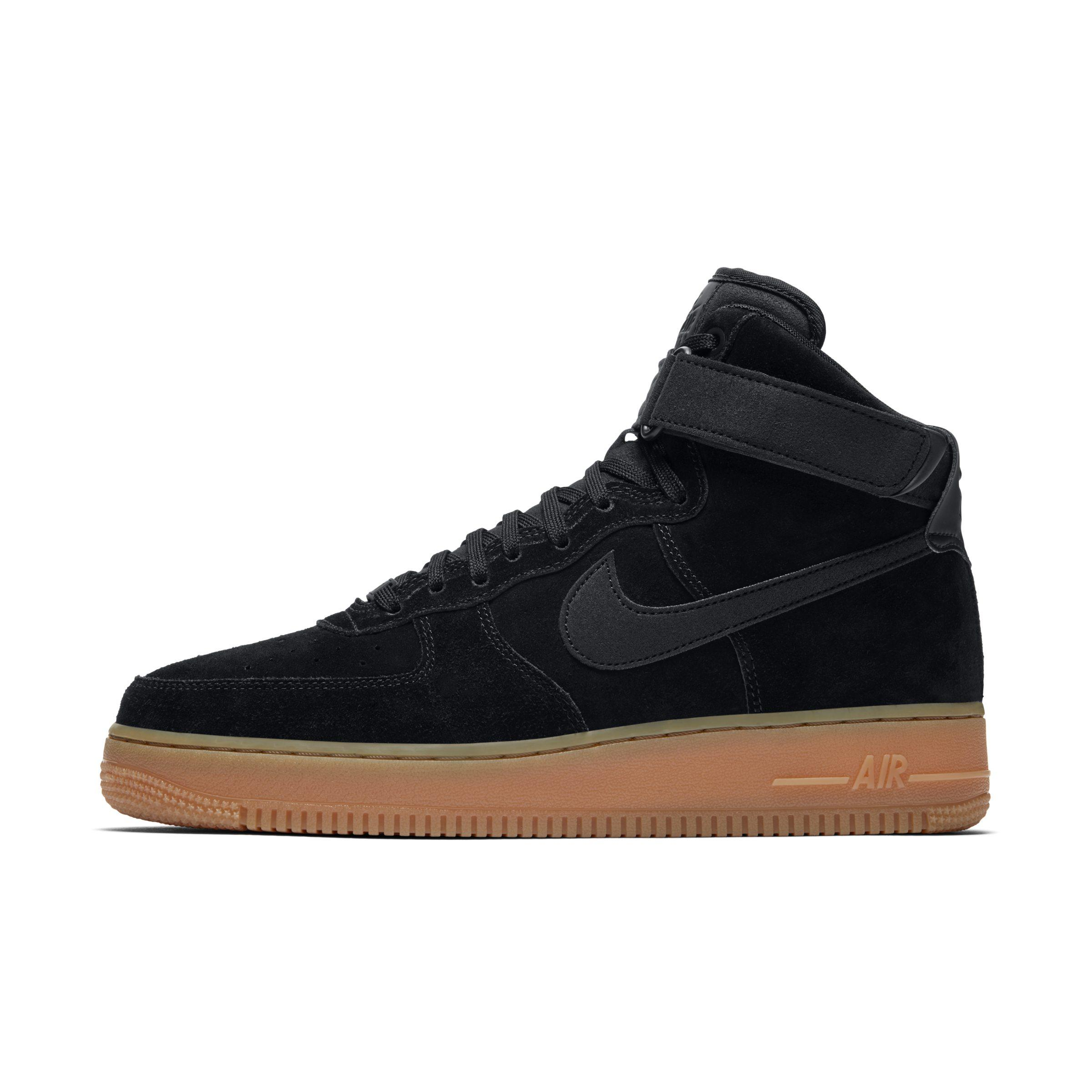 18aeee6a335e Nike Air Force 1 High  07 Lv8 Suede Shoe in Black for Men - Lyst
