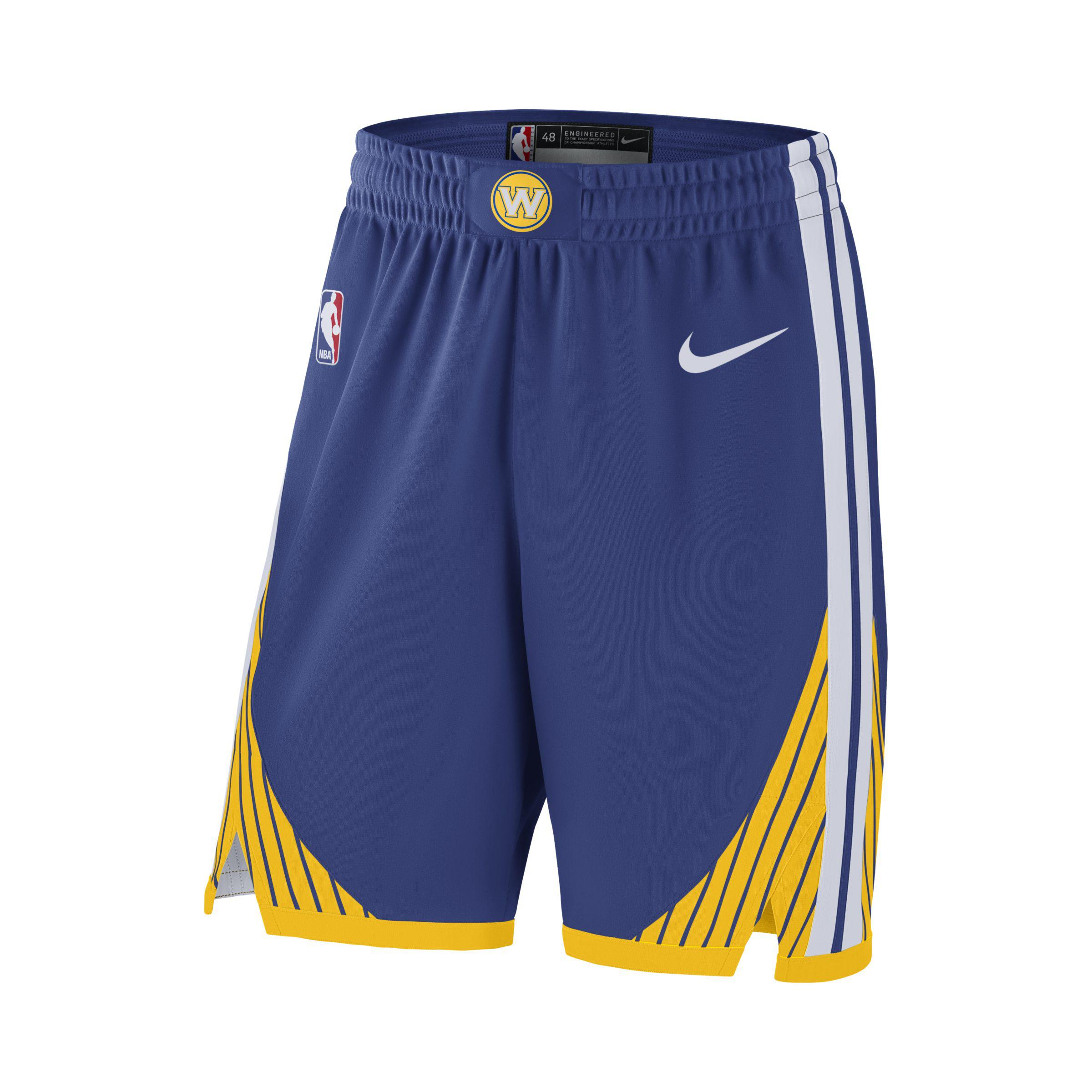 db5bcdb264ef Nike. Blue Golden State Warriors Icon Edition Authentic Men s Nba Shorts