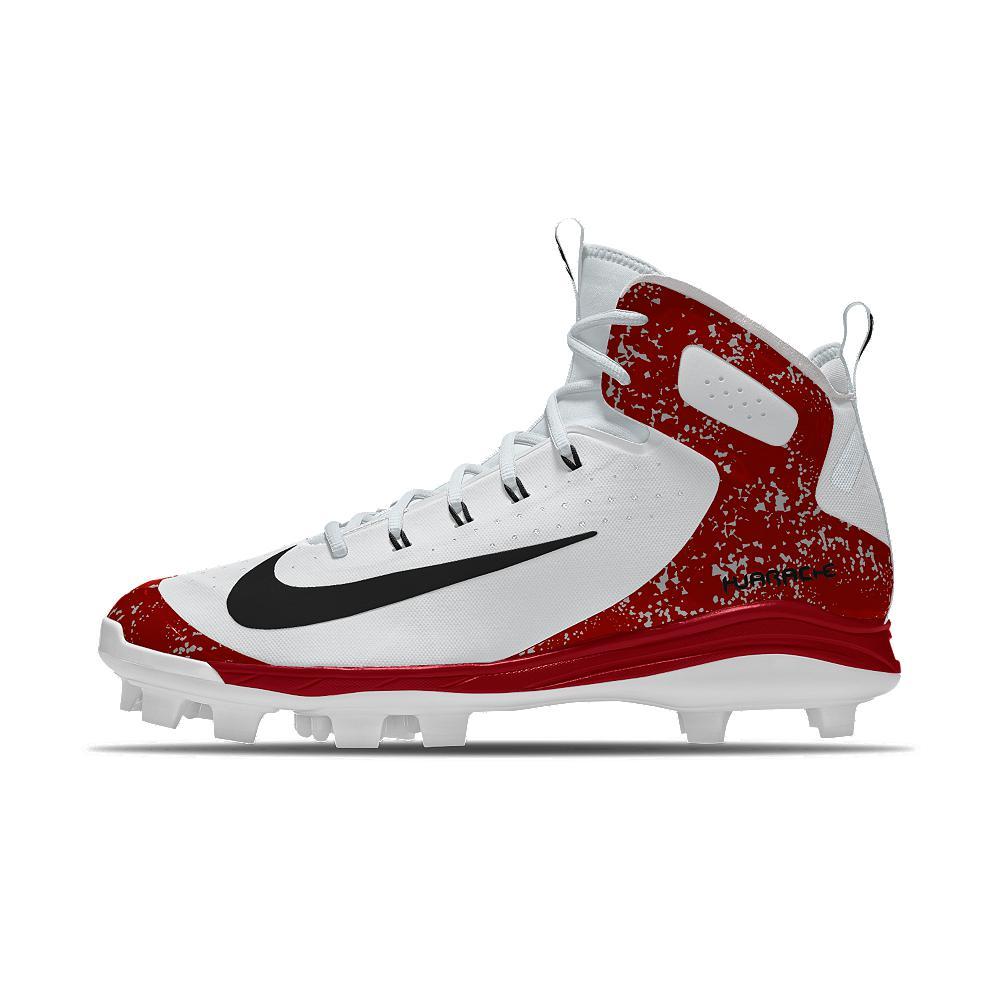 5167ae8bd Nike Alpha Huarache Elite Mid Mcs Id Men s Baseball Cleats in Red ...
